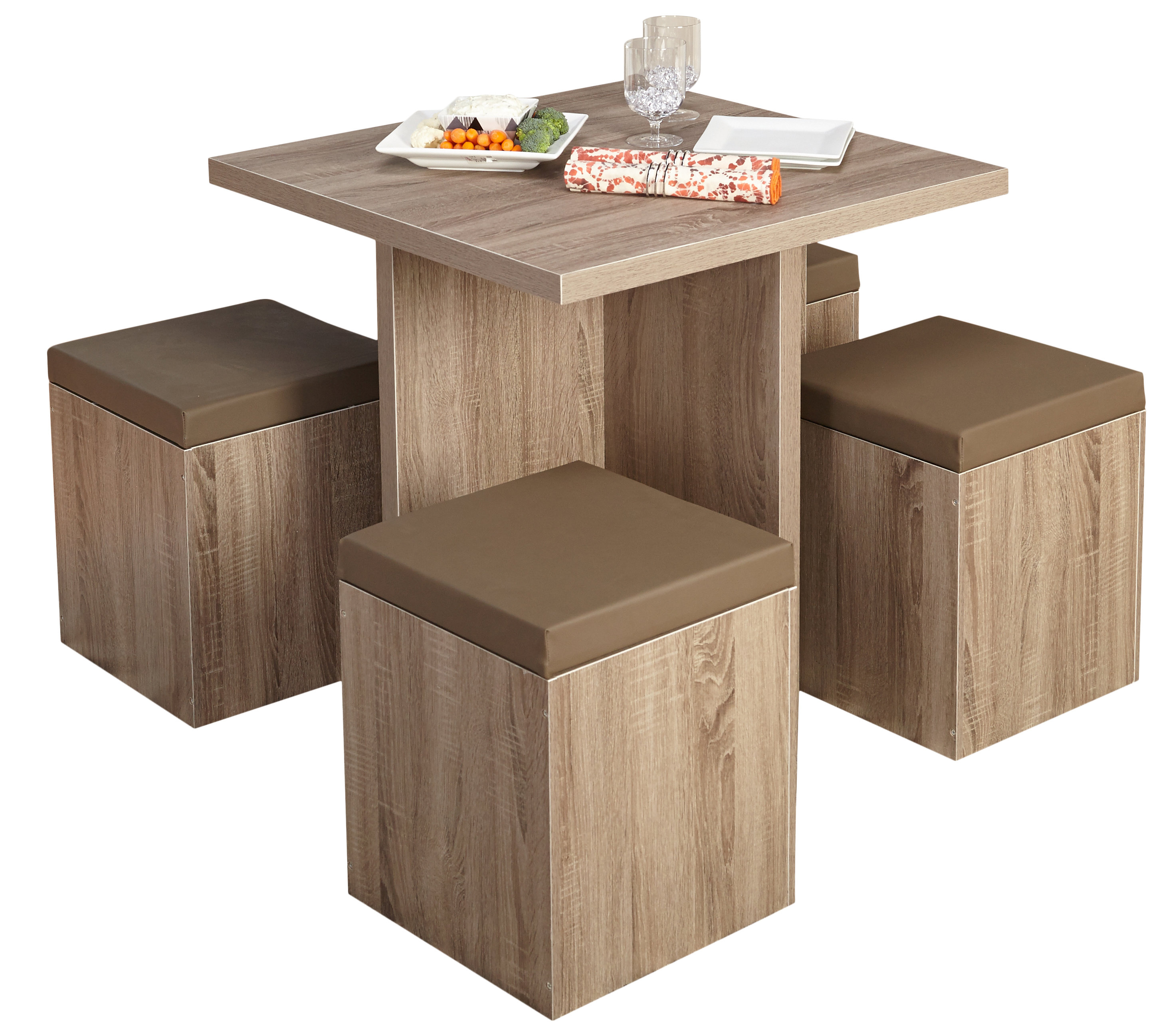Badillo 5 Piece Dining Set For Latest Frida 3 Piece Dining Table Sets (View 17 of 20)