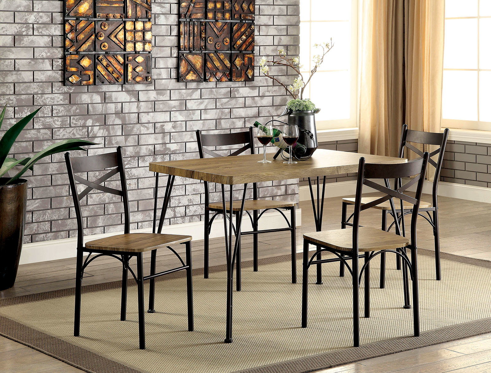 Balance 5 Piece Dining Set Within Best And Newest Telauges 5 Piece Dining Sets (View 11 of 20)