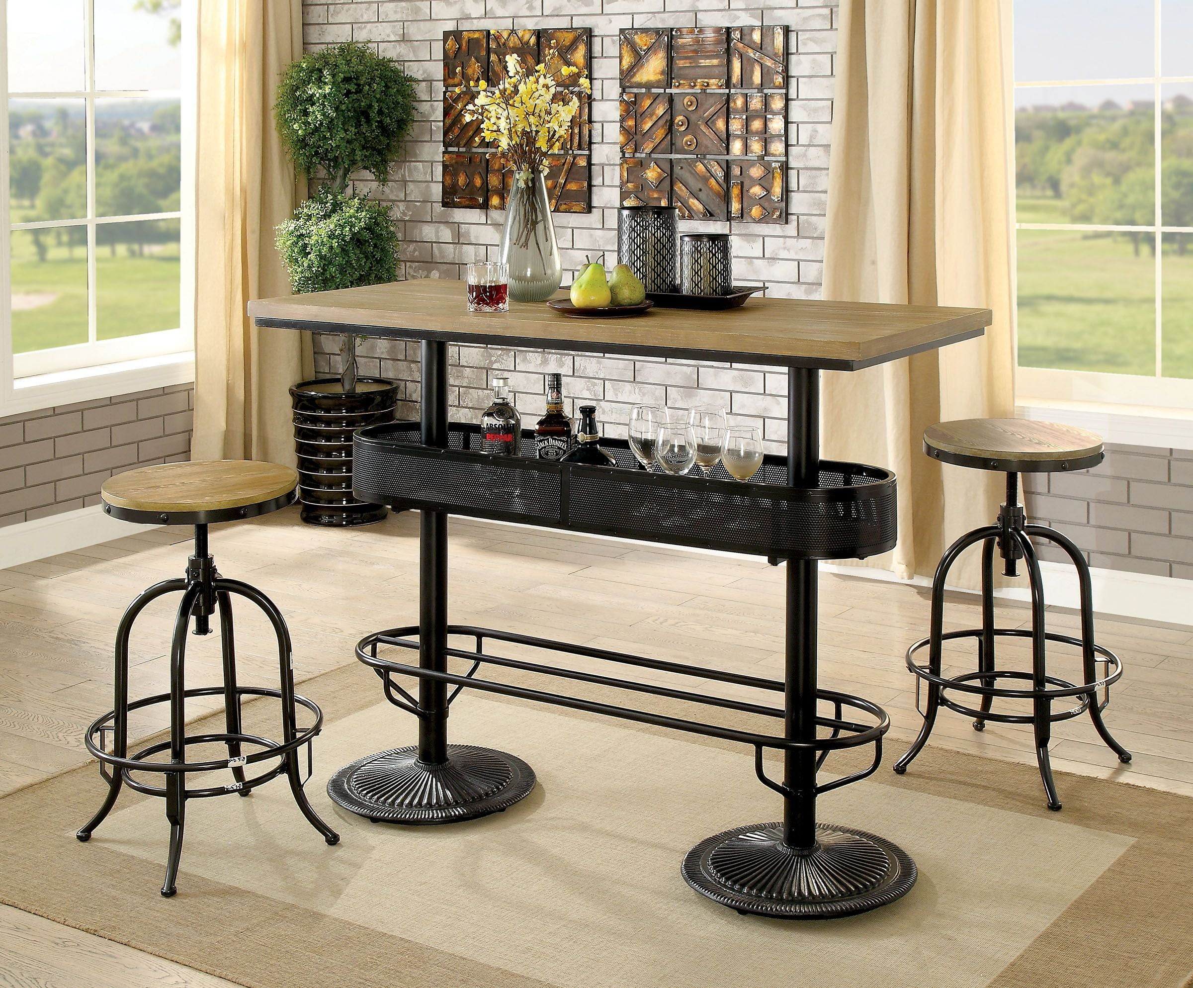Bar Table Set – Summervilleaugusta For Most Up To Date Crownover 3 Piece Bar Table Sets (Image 4 of 20)