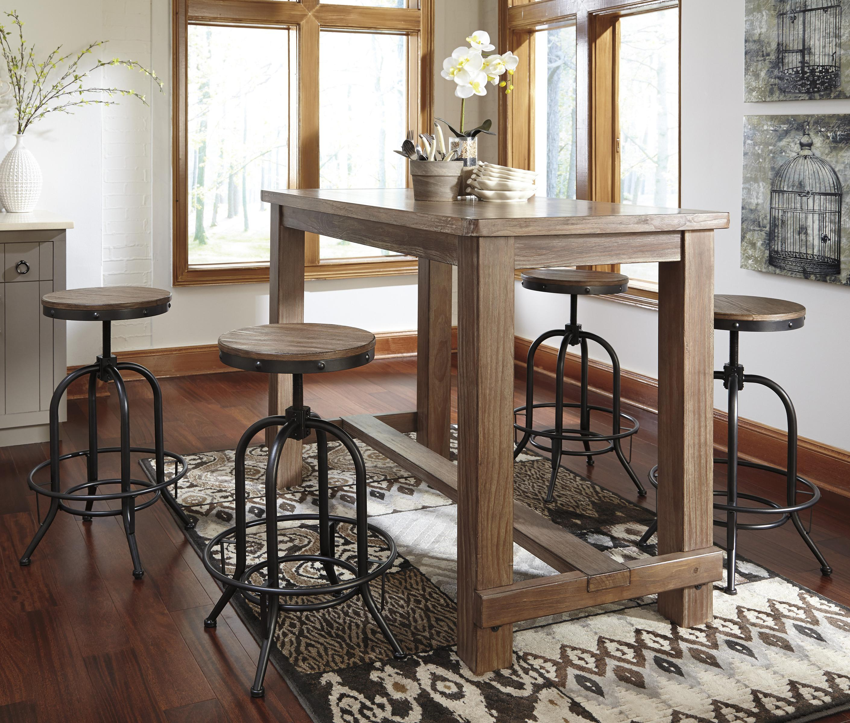 Bar Table Set – Summervilleaugusta Throughout 2018 Crownover 3 Piece Bar Table Sets (Image 5 of 20)