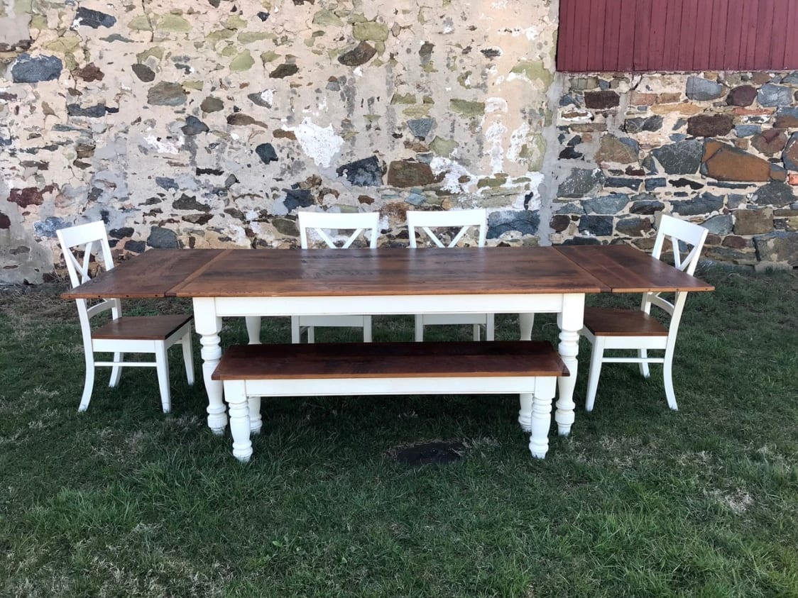 Barnwood & Reclaimed Wood Furniture For Sale | Furniture From The Barn Pertaining To Recent Partin 3 Piece Dining Sets (Image 5 of 20)