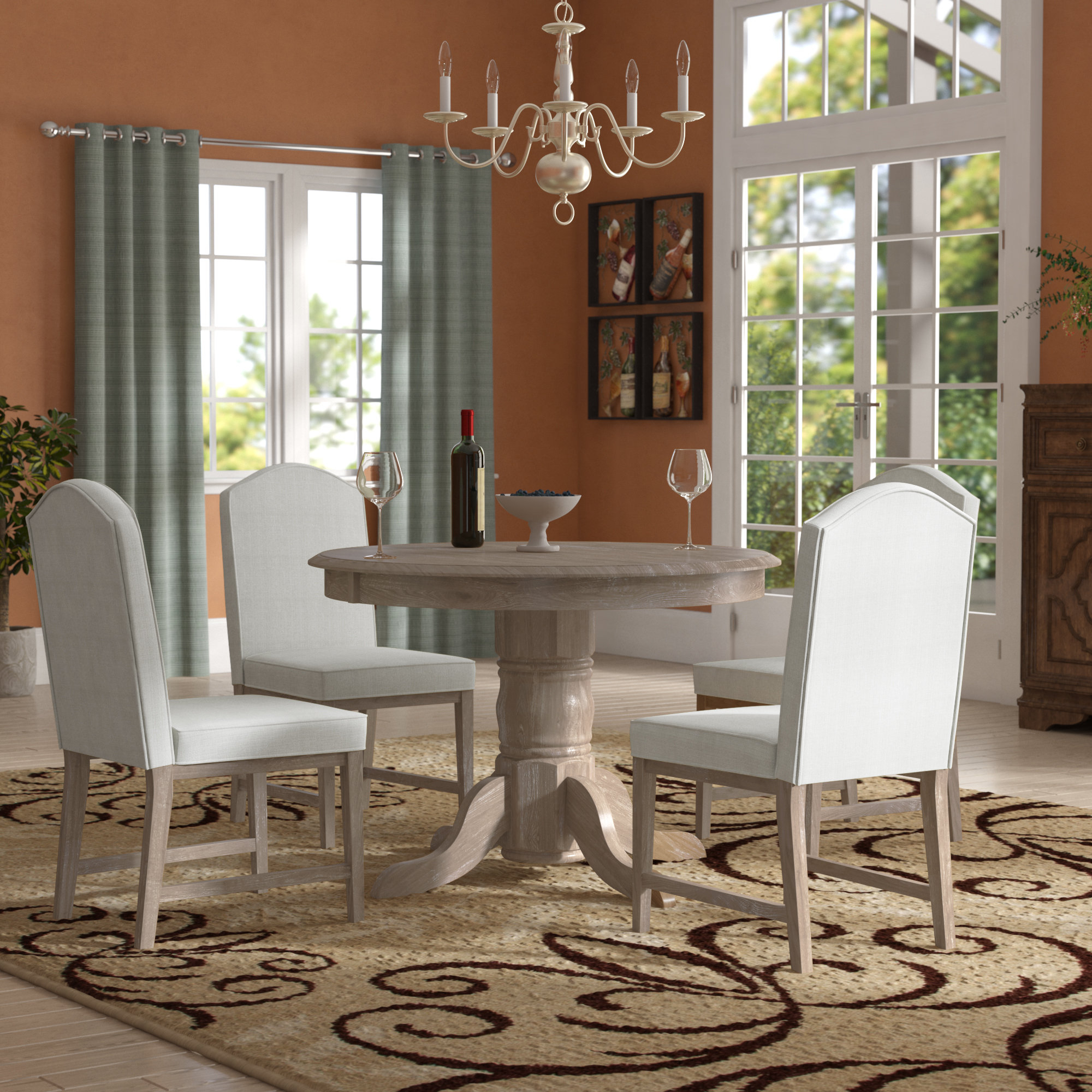 Barwick 5 Piece Dining Set Pertaining To 2017 Liles 5 Piece Breakfast Nook Dining Sets (Image 1 of 20)