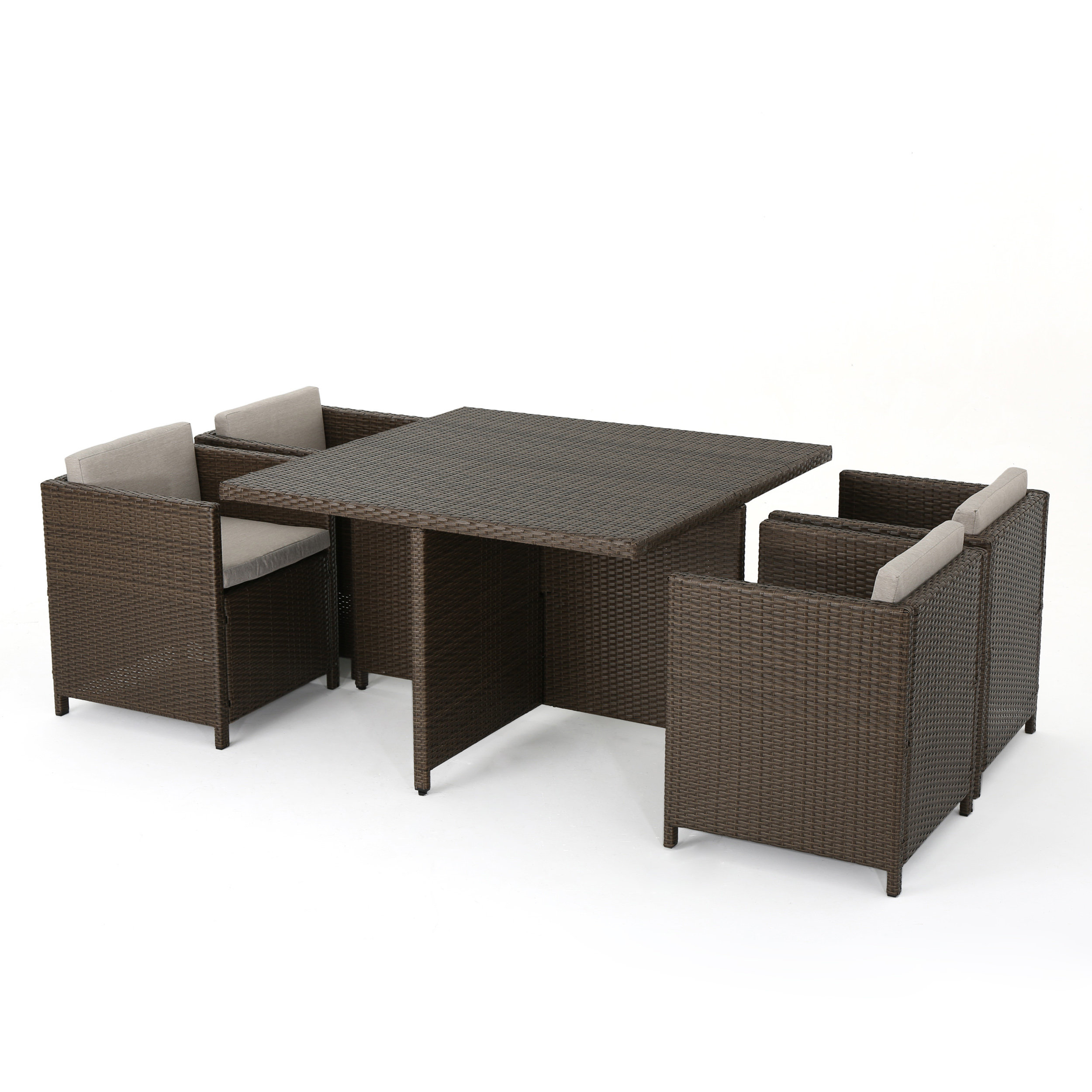 Bashir 5 Piece Dining Set With Cushions Within Current Berrios 3 Piece Counter Height Dining Sets (View 20 of 20)