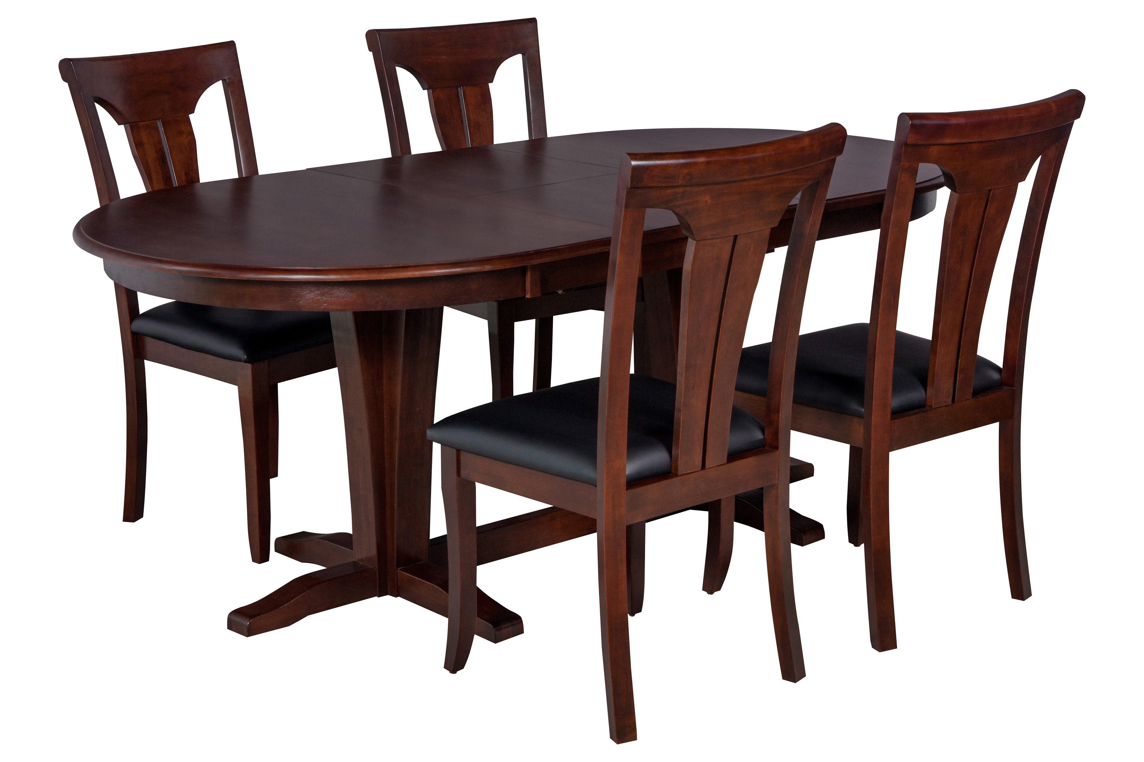 Bateson 5 Piece Curved Back Chair Dining Set With Most Current Adan 5 Piece Solid Wood Dining Sets (Set Of 5) (View 15 of 20)