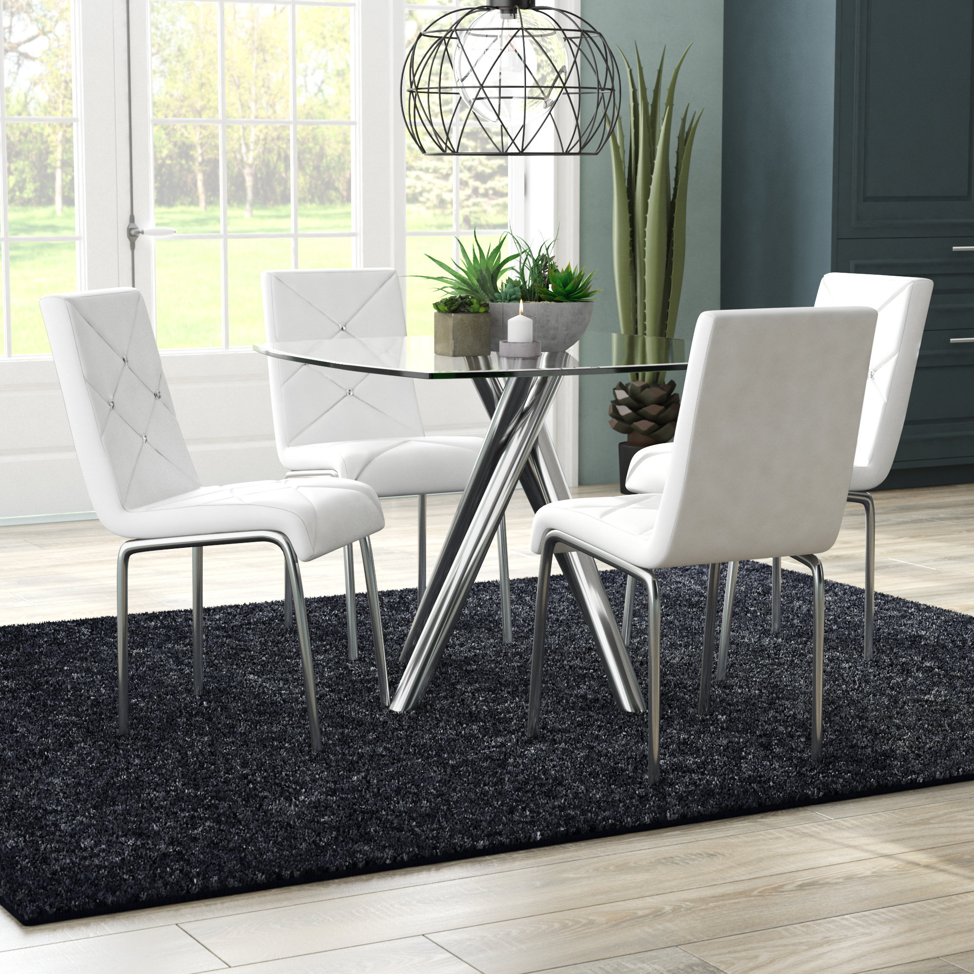 Bax 5 Piece Dining Set Intended For Best And Newest Linette 5 Piece Dining Table Sets (Image 3 of 20)