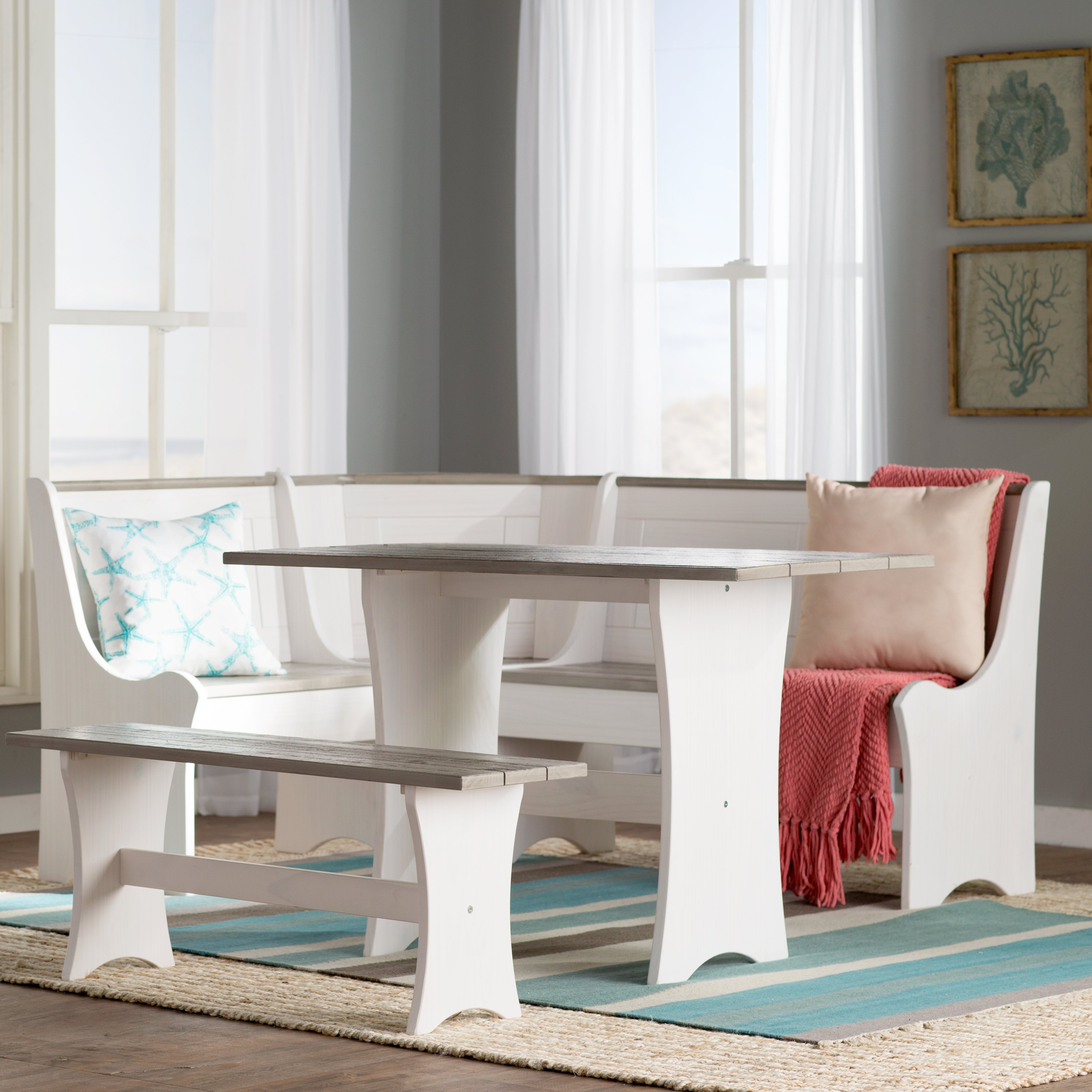 Beachcrest Home Monroe 3 Piece Nook Dining Set Pertaining To Most Popular Shepparton Vintage 3 Piece Dining Sets (View 16 of 20)