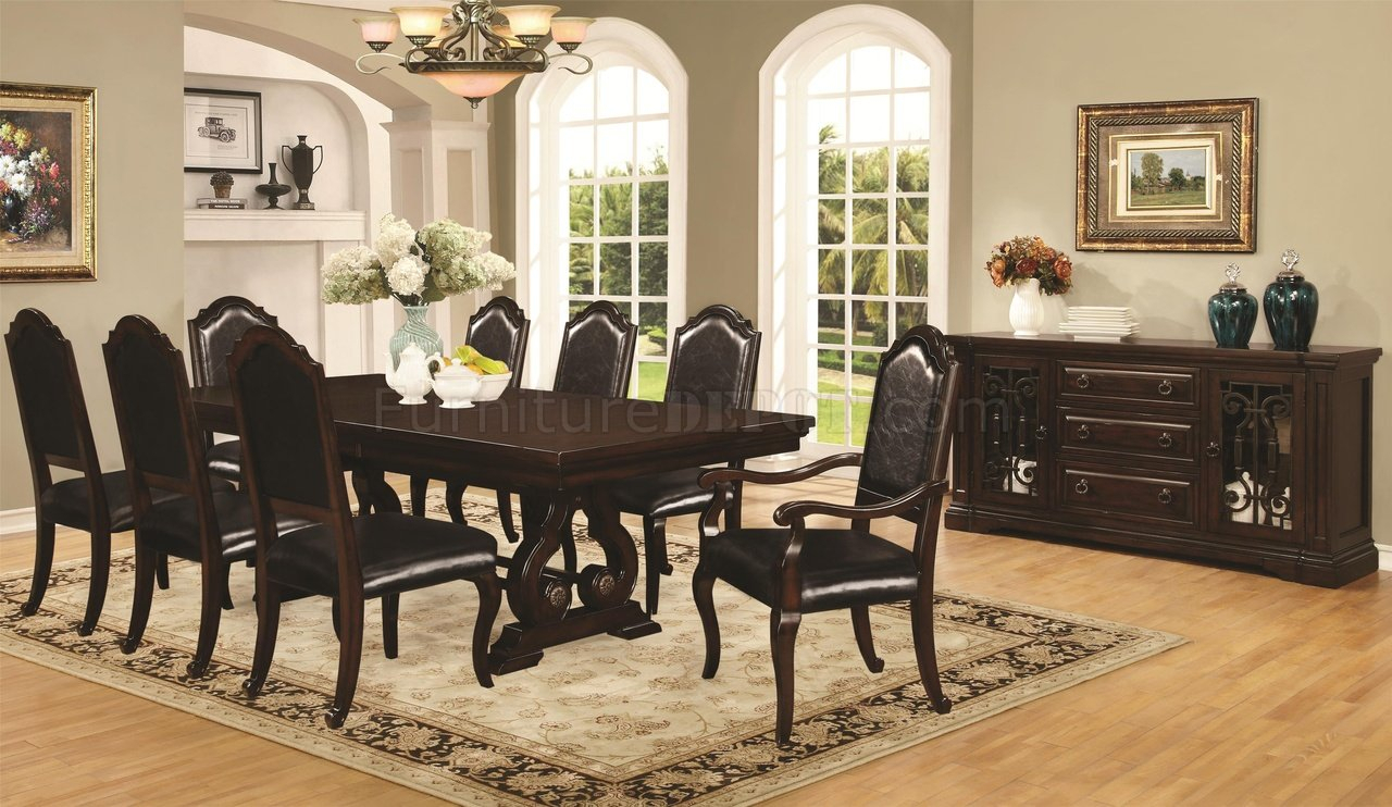 Bedford 105601 Dining Table In Mahoganycoaster W/options With Regard To Most Popular Bedfo 3 Piece Dining Sets (View 12 of 20)