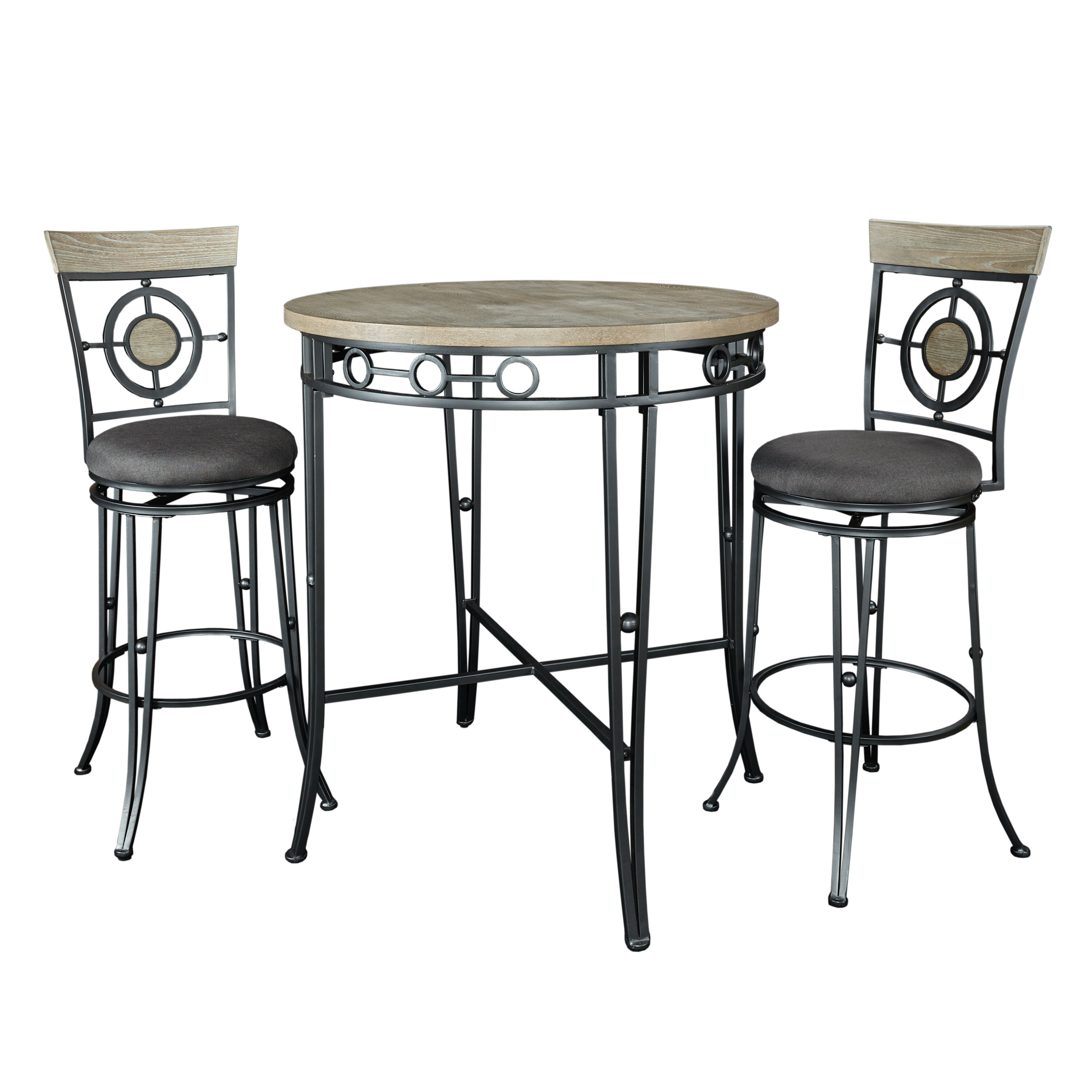 Benedetto 3 Piece Pub Table Set For 2017 Mizpah 3 Piece Counter Height Dining Sets (Image 6 of 20)