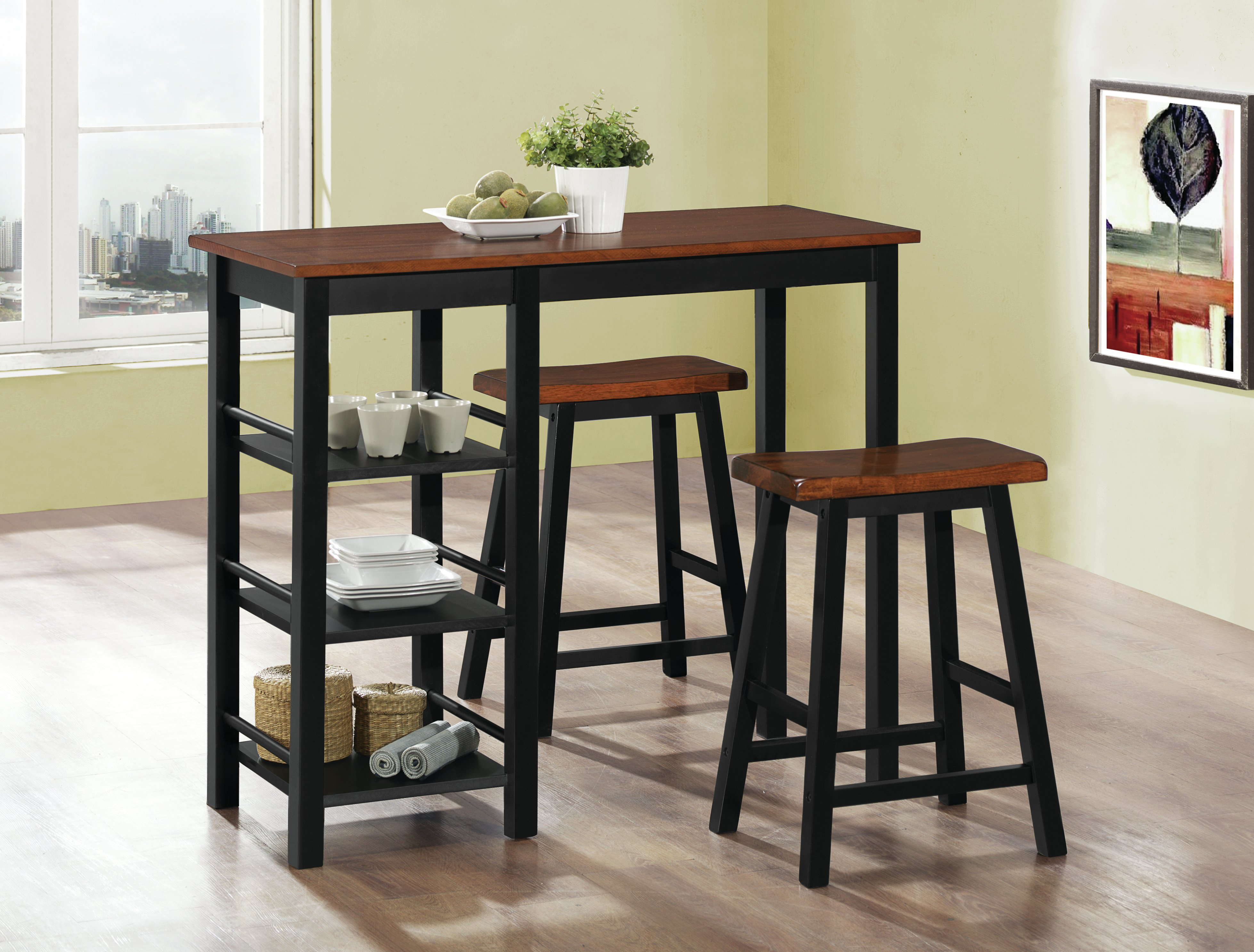 Berrios 3 Piece Counter Height Dining Set With Regard To Best And Newest Berrios 3 Piece Counter Height Dining Sets (View 2 of 20)