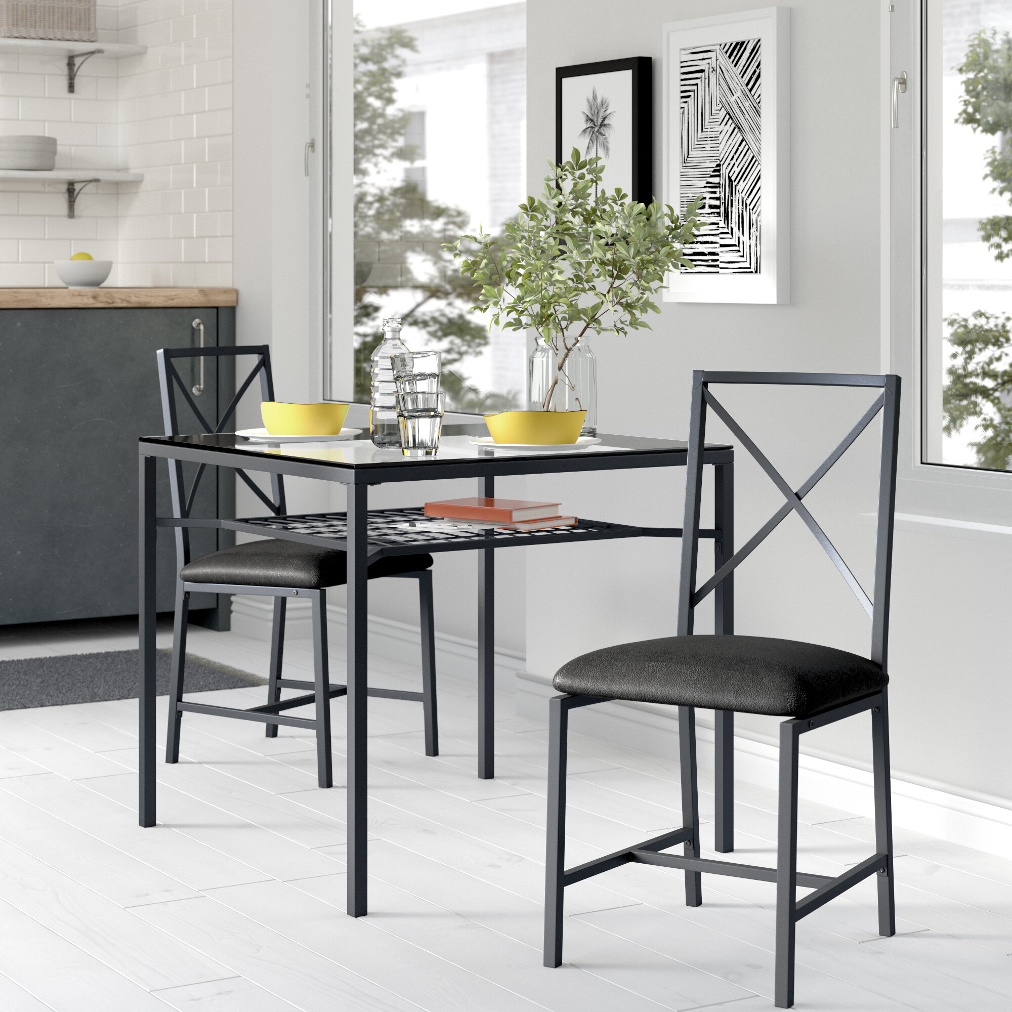 Berryhill 3 Piece Dining Set For 2018 Baillie 3 Piece Dining Sets (Image 2 of 20)
