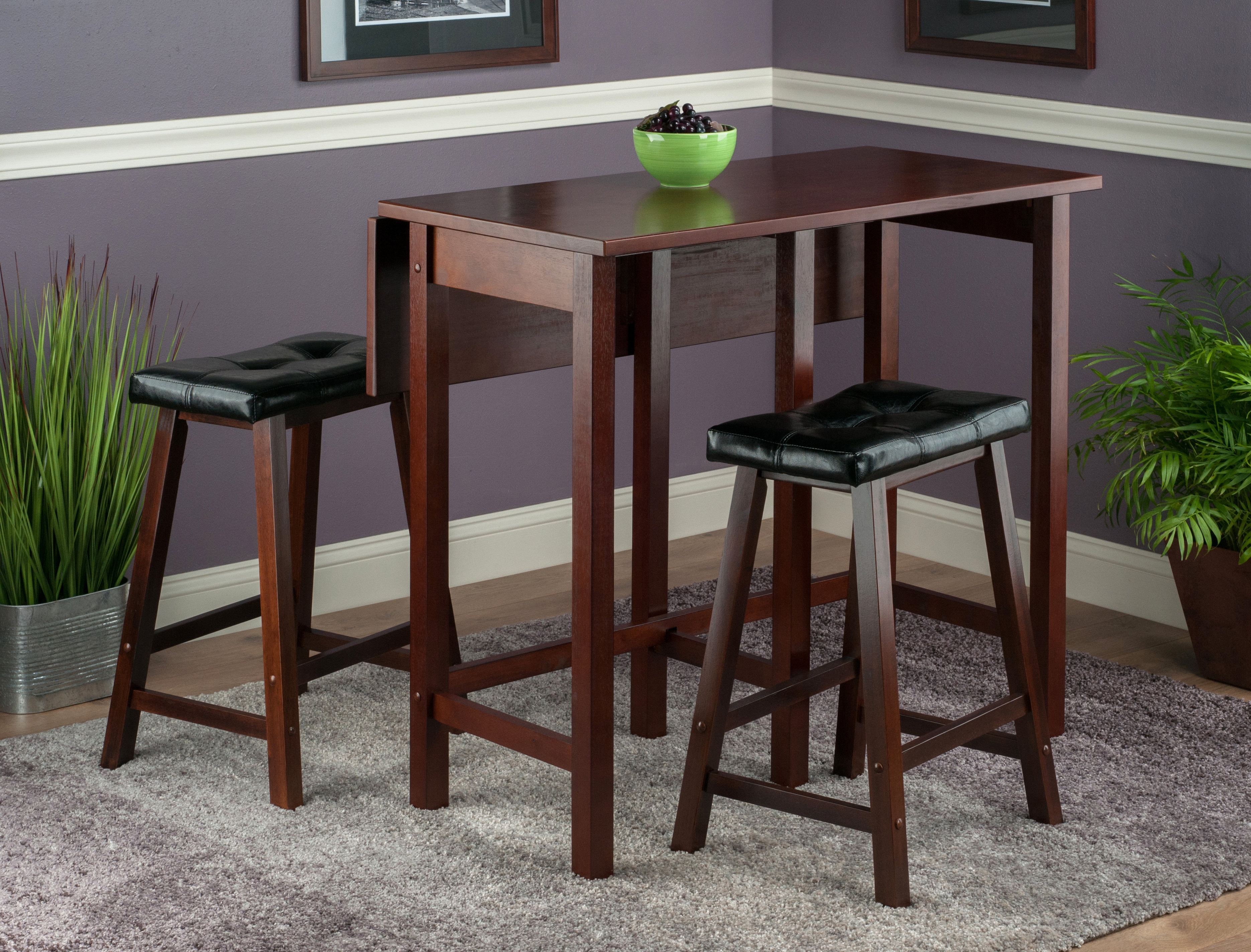 Bettencourt 3 Piece Counter Height Dining Set In Most Popular Bettencourt 3 Piece Counter Height Solid Wood Dining Sets (View 2 of 20)
