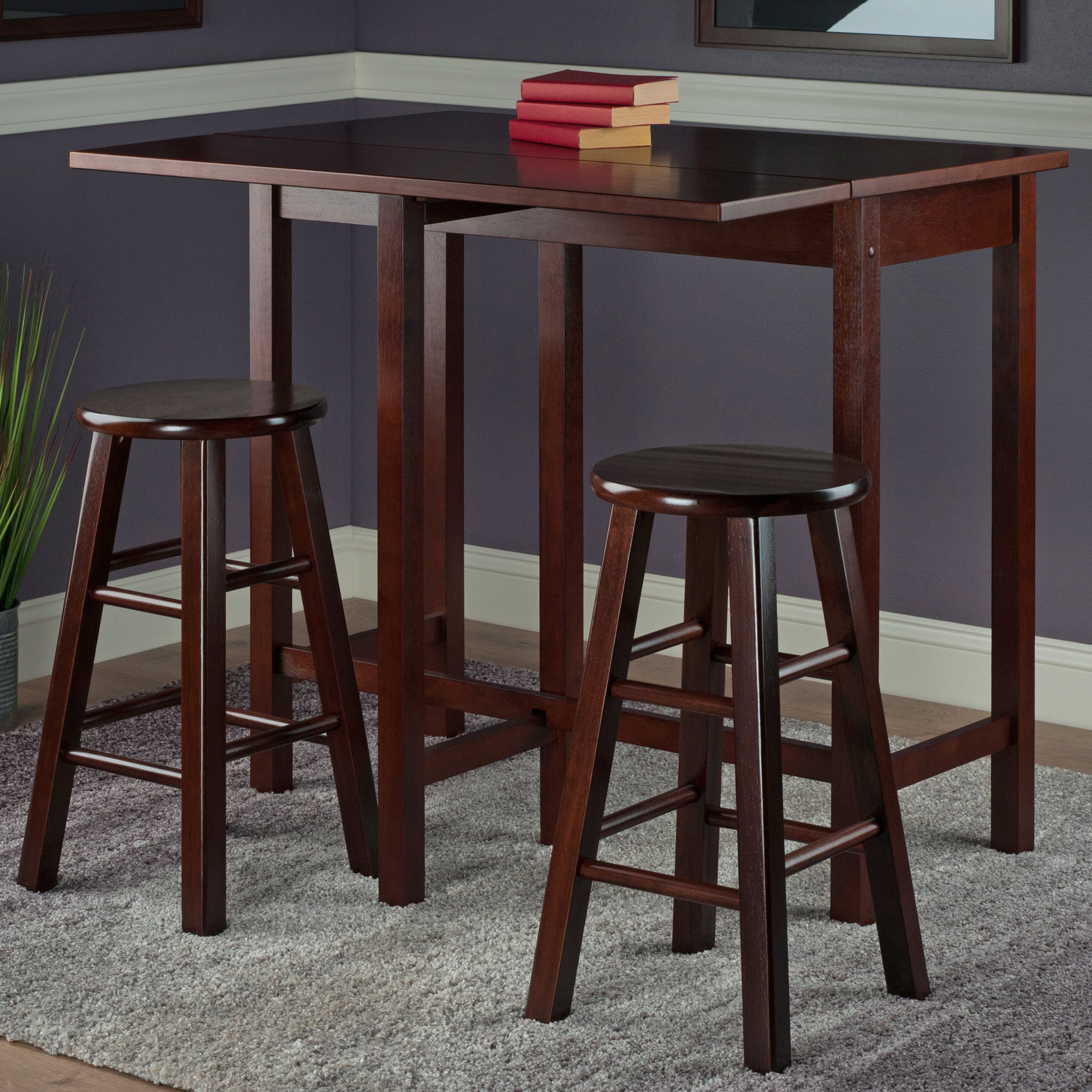 Bettencourt 3 Piece Counter Height Pub Table Set Within 2017 Bettencourt 3 Piece Counter Height Solid Wood Dining Sets (View 3 of 20)