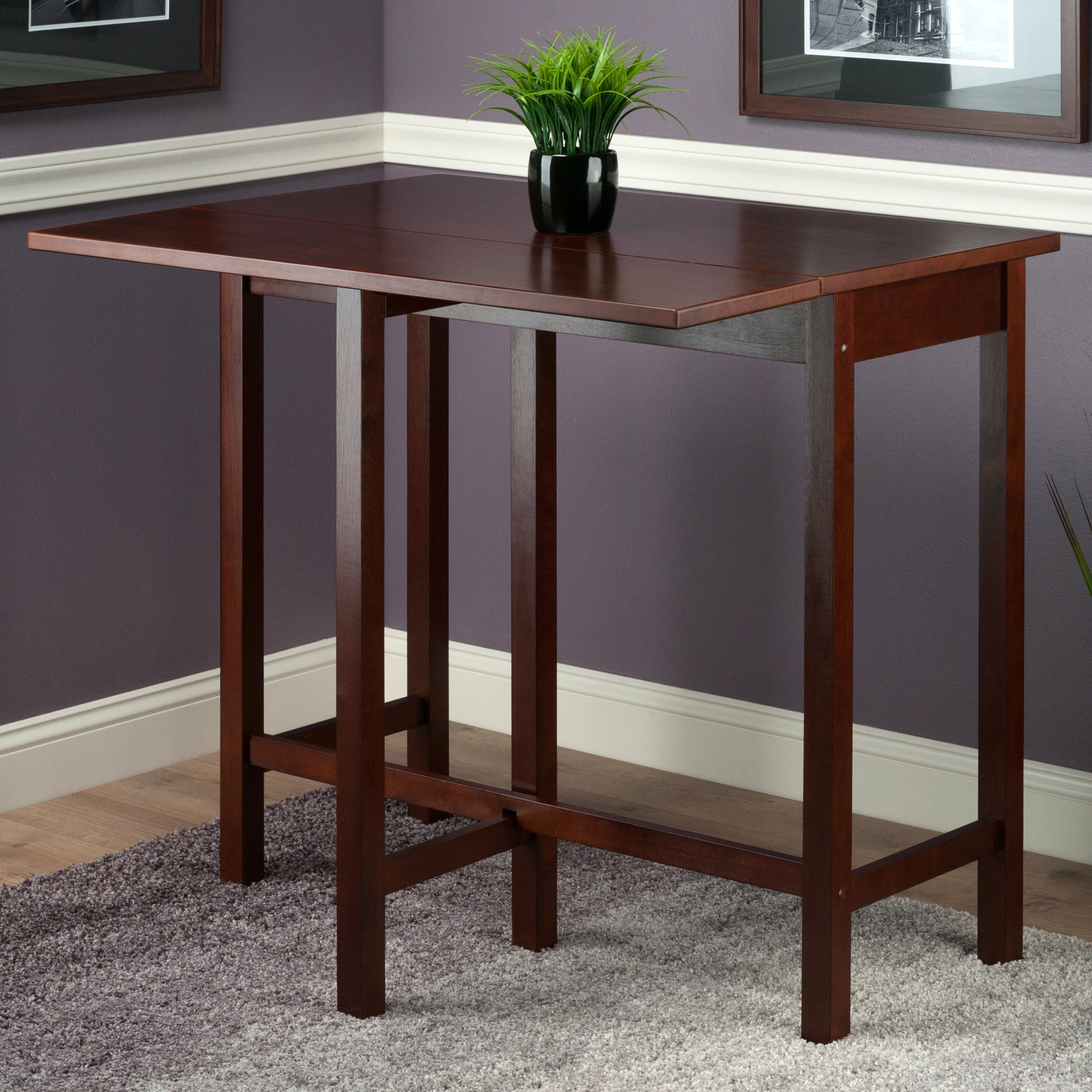 Featured Image of Bettencourt 3 Piece Counter Height Solid Wood Dining Sets