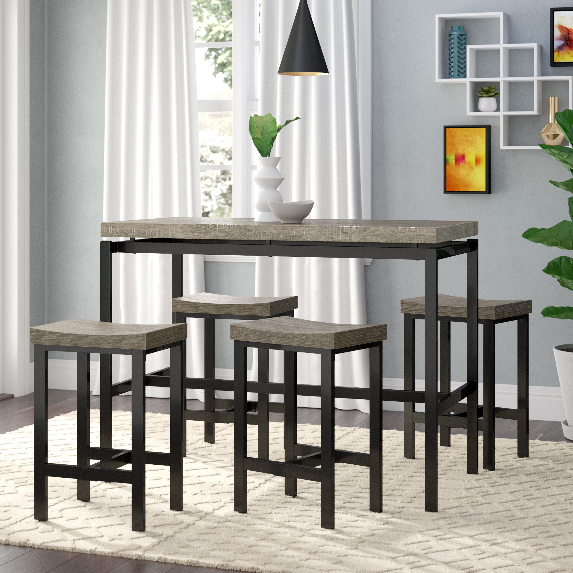 Beveridge 5 Piece Dining Set Pertaining To Most Recently Released Denzel 5 Piece Counter Height Breakfast Nook Dining Sets (Image 3 of 20)