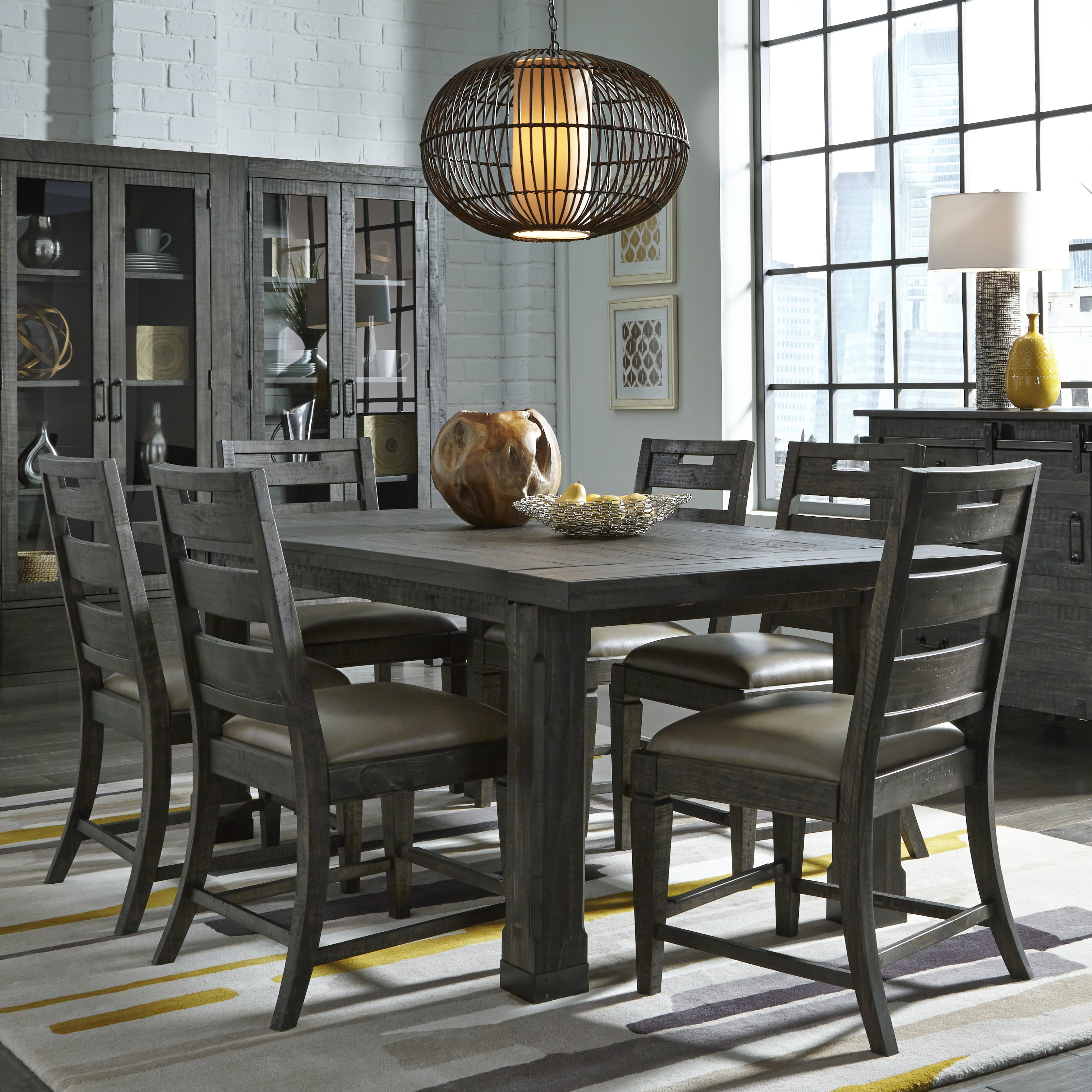 Birch Lane™ Heritage Cathryn 7 Piece Dining Set For Best And Newest Nutter 3 Piece Dining Sets (Image 7 of 20)
