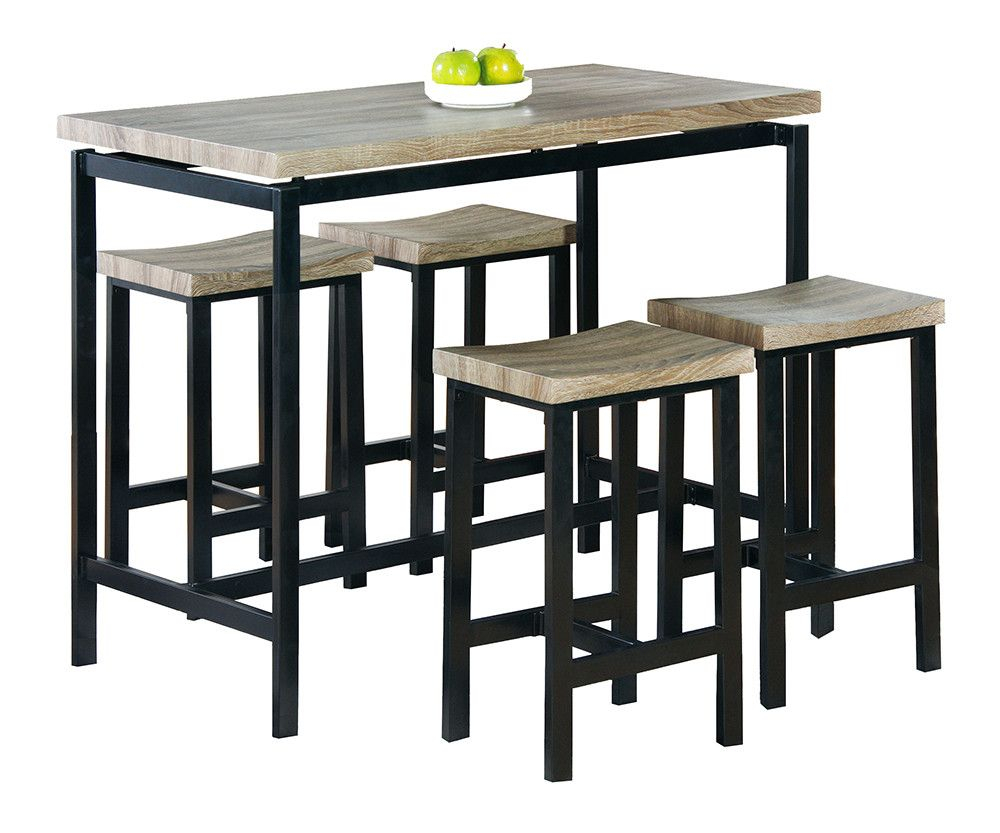 Bourges 5 Piece Pub Table Set | Products | Buben In Most Current Denzel 5 Piece Counter Height Breakfast Nook Dining Sets (Image 5 of 20)