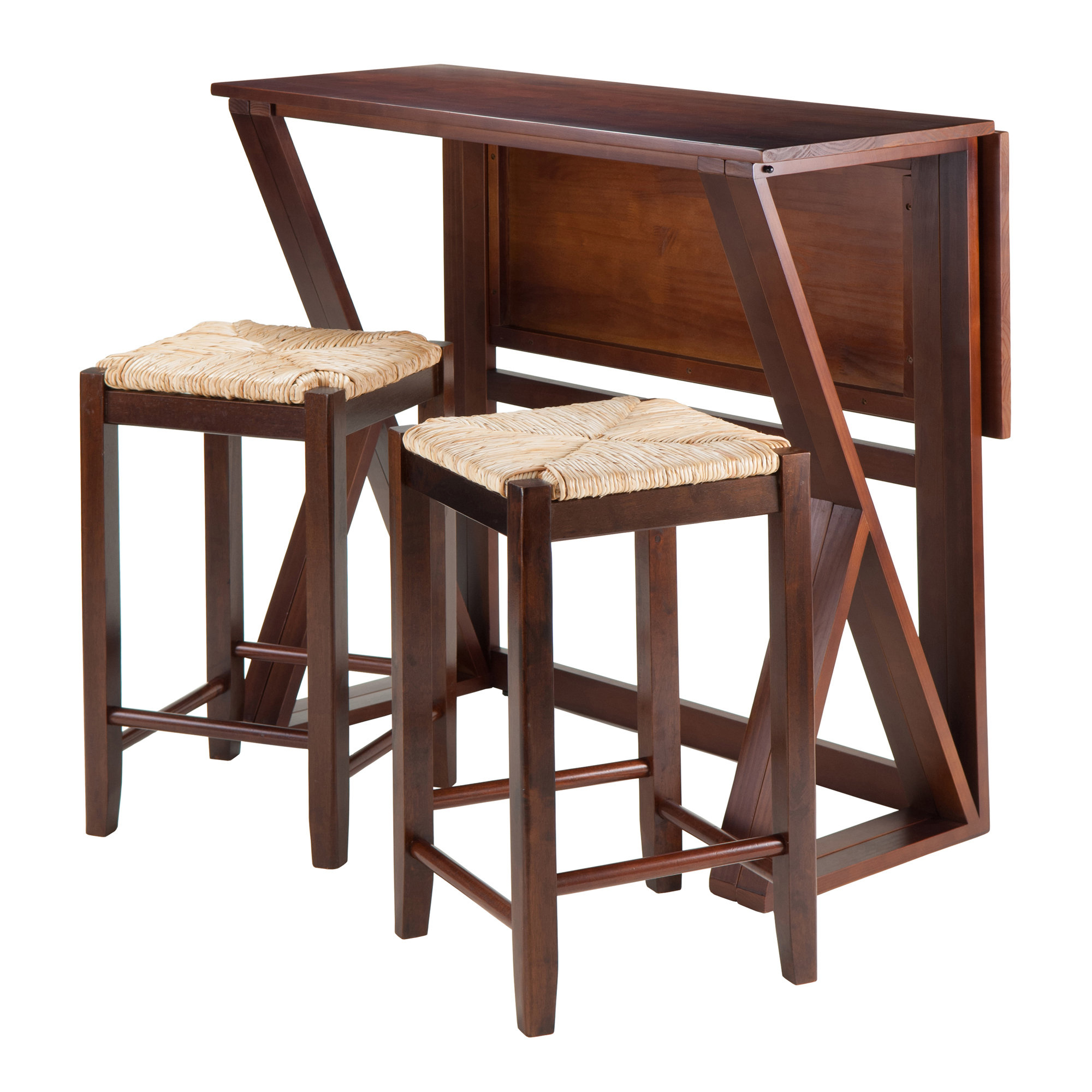 Brayan 3 Piece Counter Height Dining Set For Most Recently Released Bettencourt 3 Piece Counter Height Solid Wood Dining Sets (View 9 of 20)