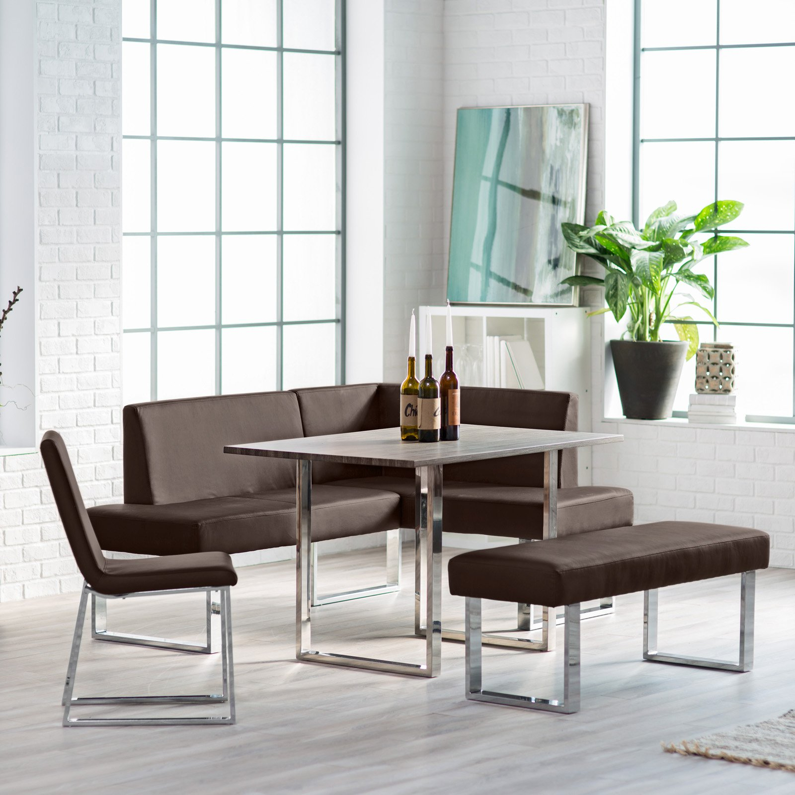 Breakfast Nook Kitchen Table Sets – Home Decor Photos Gallery Throughout Most Recent Liles 5 Piece Breakfast Nook Dining Sets (Image 3 of 20)