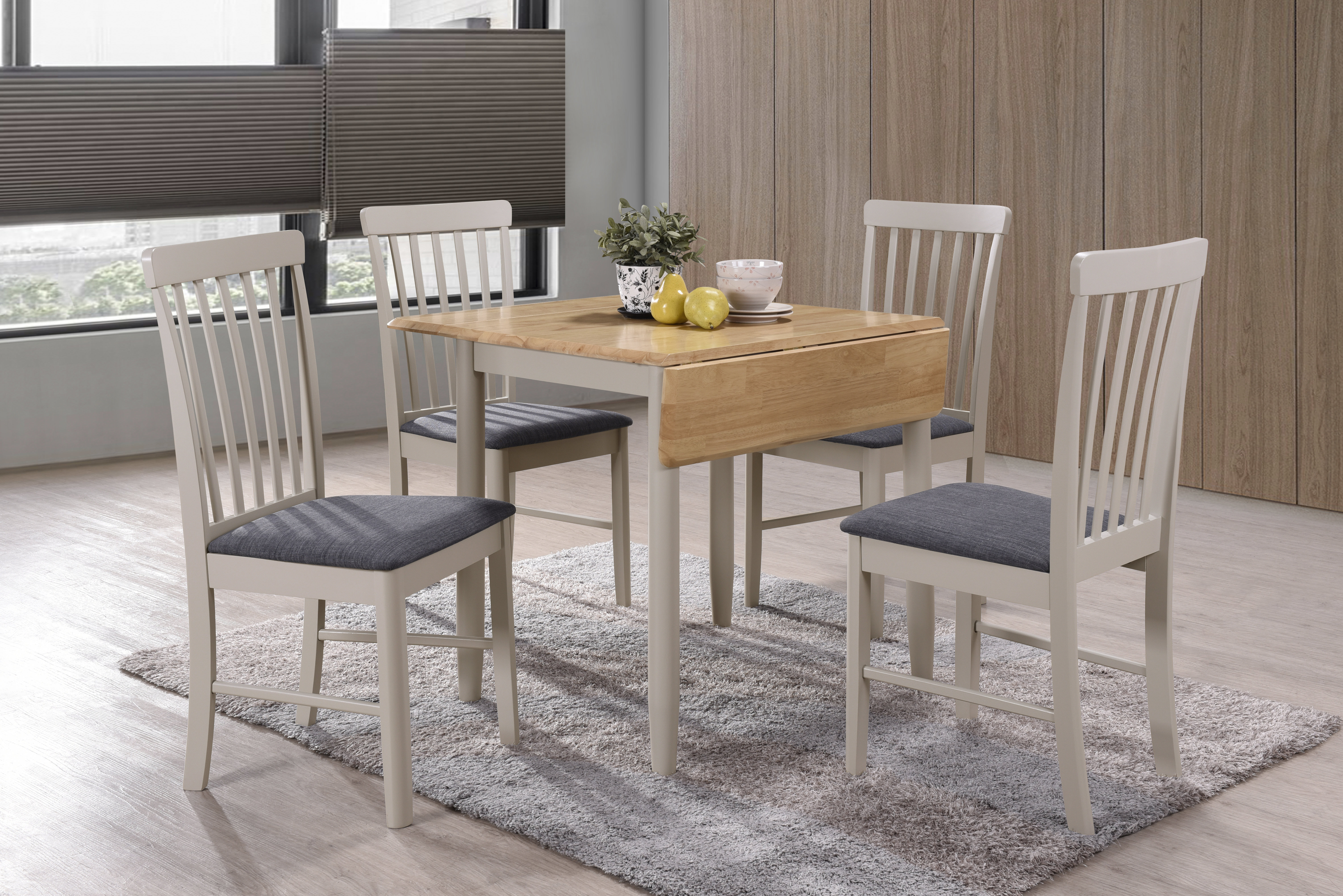 Brentwood Folding/extendable Dining Table Inside 2017 Northwoods 3 Piece Dining Sets (Image 3 of 20)