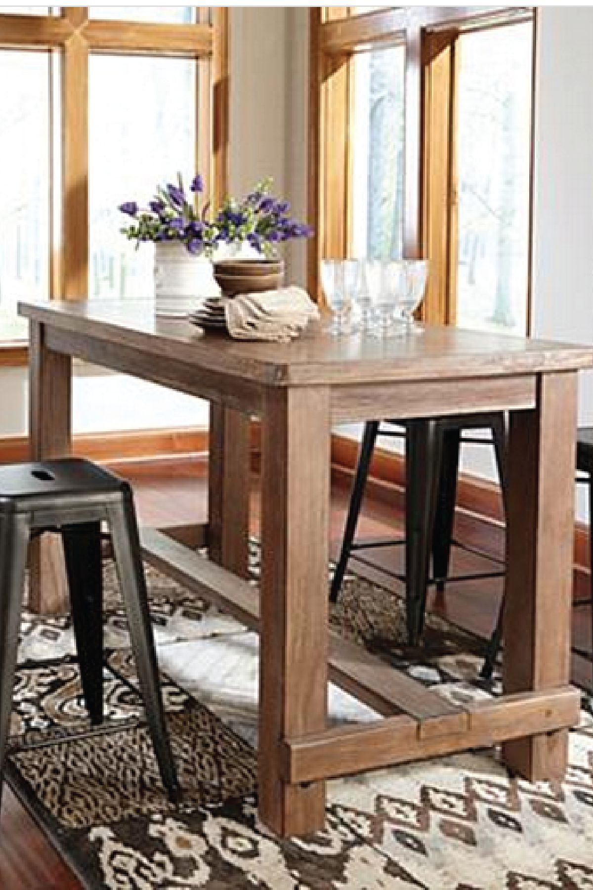 Bring This Counter Height Dining Room Table Into Your Home For A Pertaining To 2018 Northwoods 3 Piece Dining Sets (Image 4 of 20)