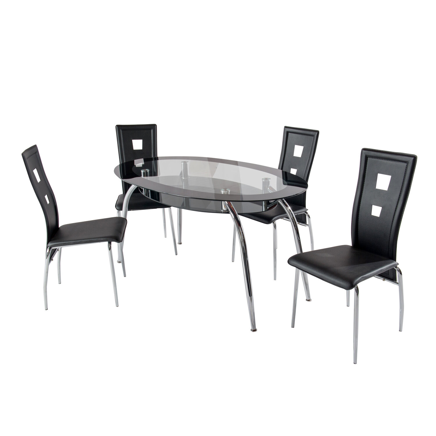 Brookview 5 Piece Dining Set Intended For Newest Linette 5 Piece Dining Table Sets (Image 4 of 20)