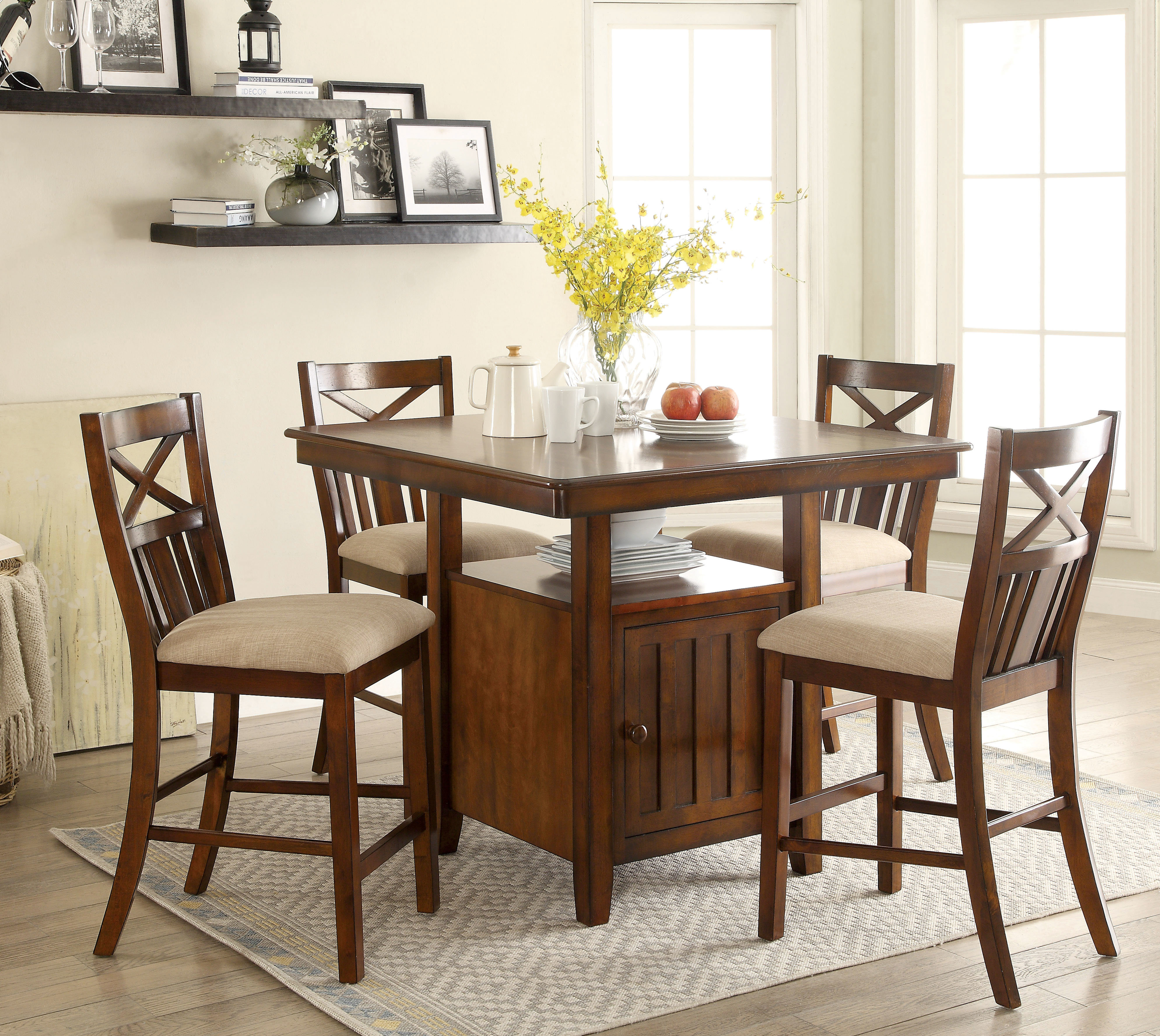 Bryson 5 Piece Dining Set In Newest Bryson 5 Piece Dining Sets (Image 6 of 20)
