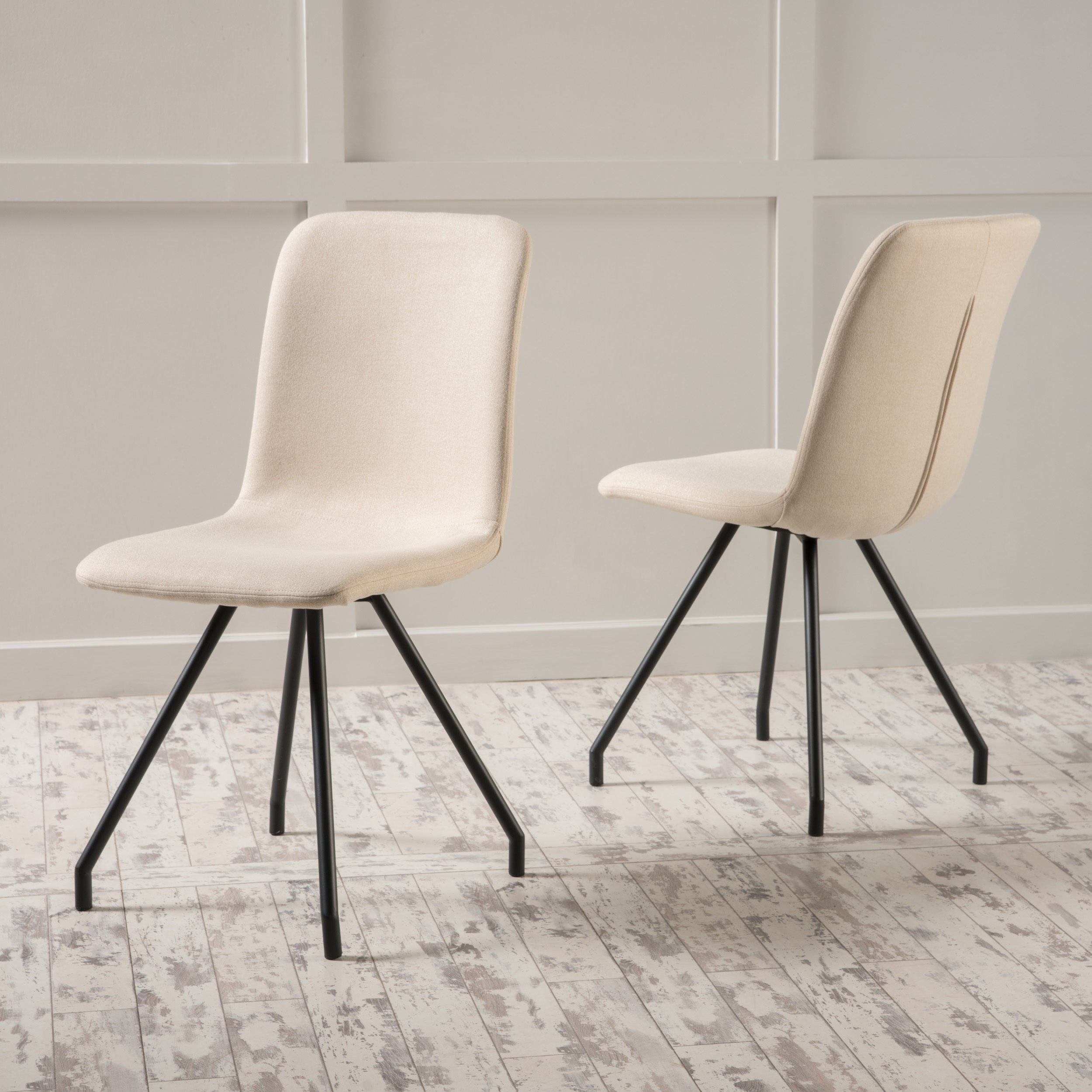Bryson Fabric Dining Chair (Set Of 2)Christopher Knight Home Regarding Recent Bryson 5 Piece Dining Sets (Image 10 of 20)
