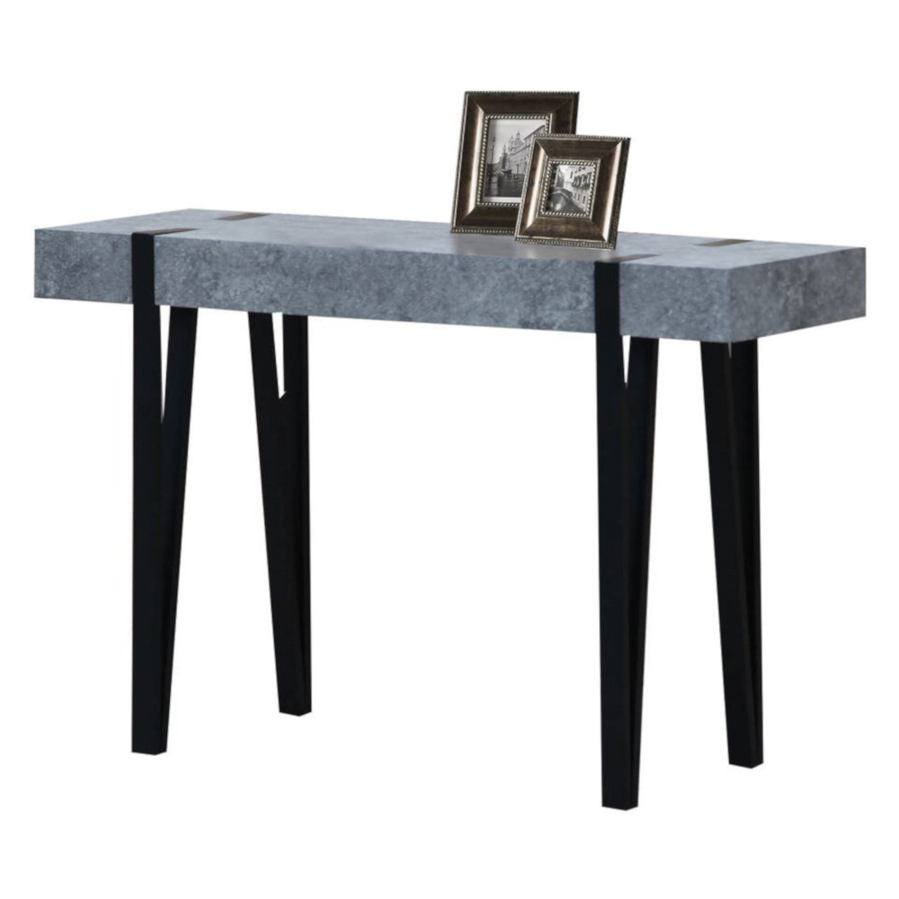 Burdine Concrete Console Table Pertaining To 2017 Yedinak 5 Piece Solid Wood Dining Sets (View 20 of 20)
