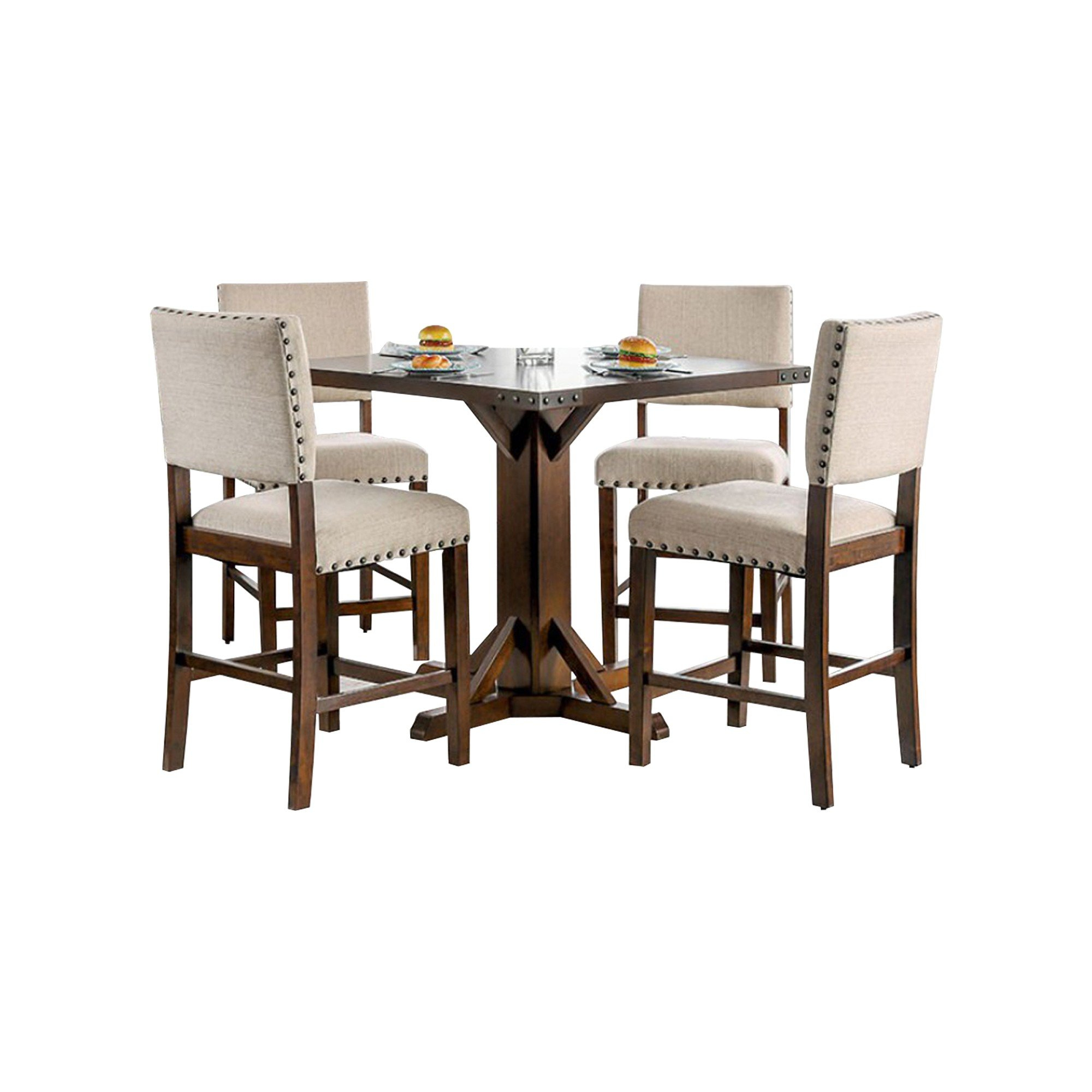 Burkitt Counter Height Solid Wood Dining Table Regarding Most Up To Date Tarleton 5 Piece Dining Sets (View 20 of 20)