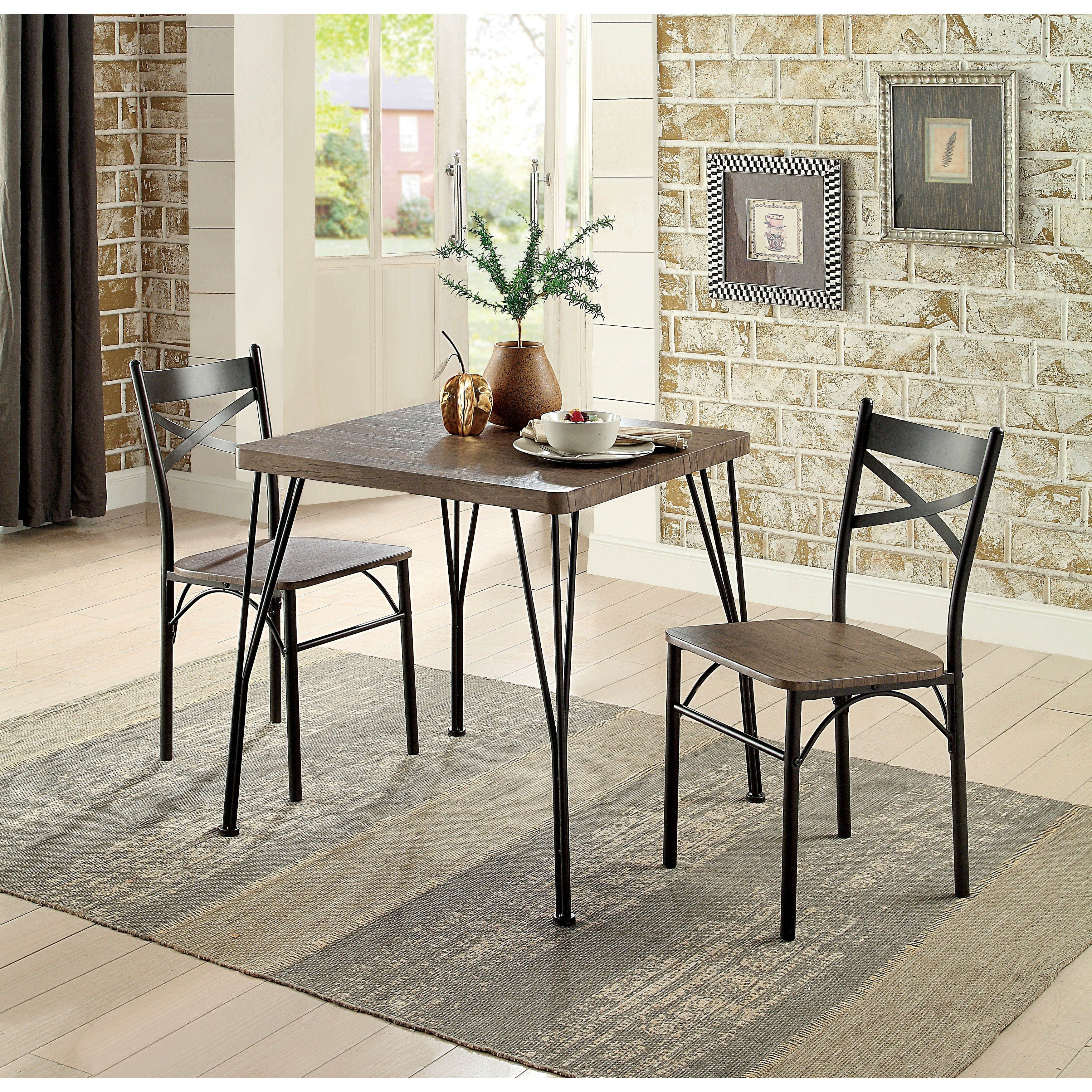 Buy 3 Piece Sets Kitchen & Dining Room Sets Online At Overstock For 2017 Bedfo 3 Piece Dining Sets (View 10 of 20)
