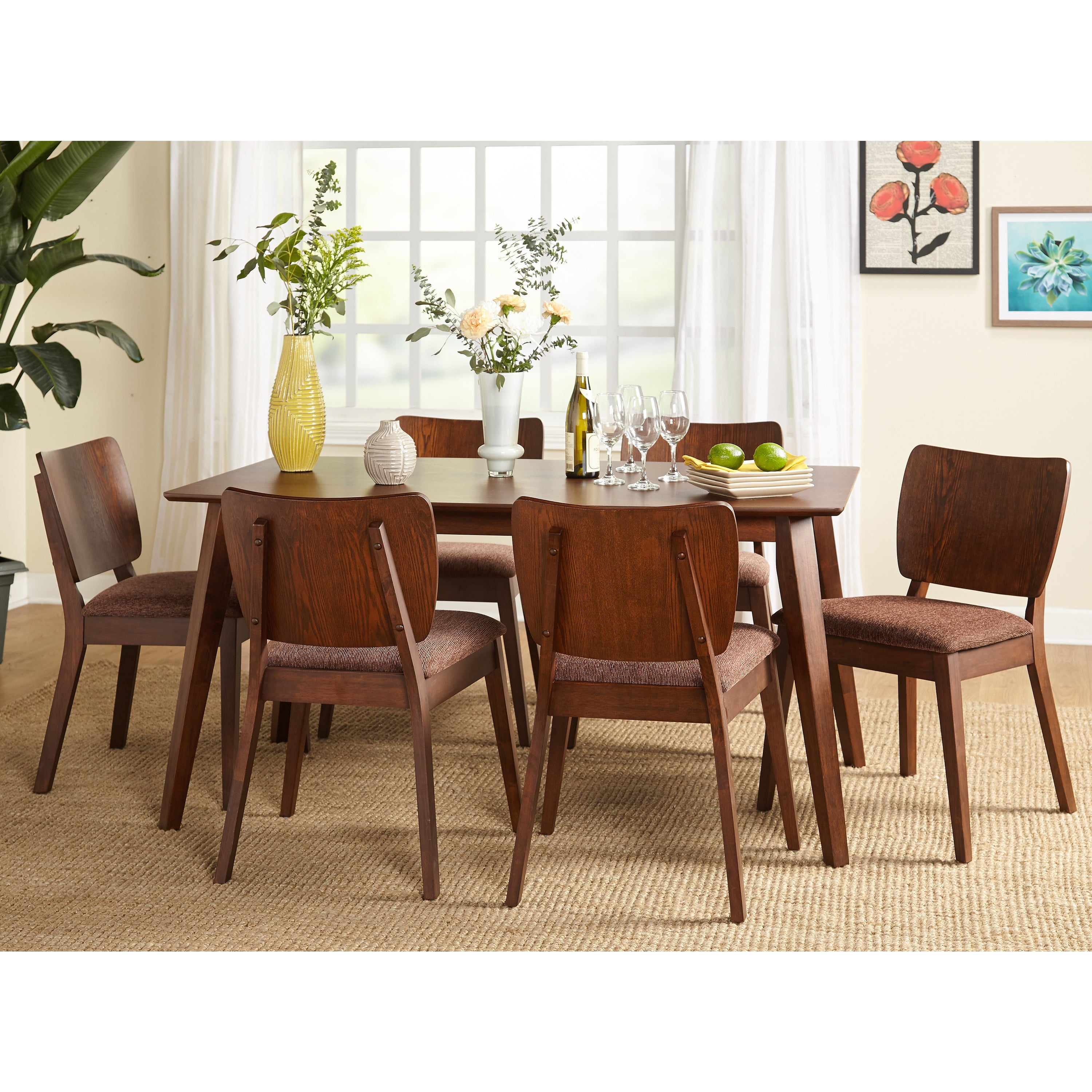 Buy 5 Piece Sets, Wood Kitchen & Dining Room Sets Online At Pertaining To Most Popular Goodman 5 Piece Solid Wood Dining Sets (Set Of 5) (Image 3 of 20)