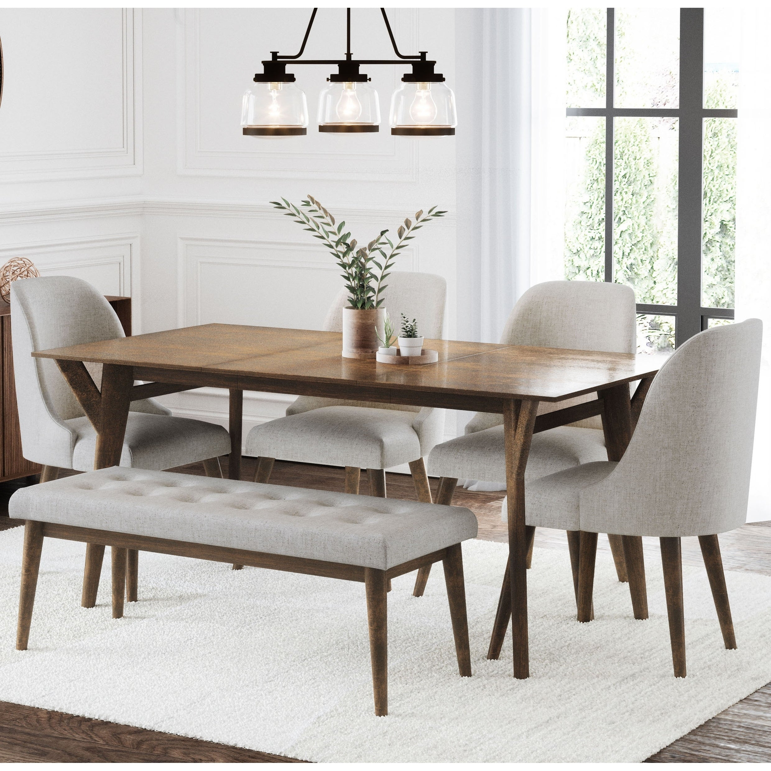 Buy 6 Piece Sets Kitchen & Dining Room Sets Online At Overstock Inside Most Popular Osterman 6 Piece Extendable Dining Sets (Set Of 6) (View 3 of 20)