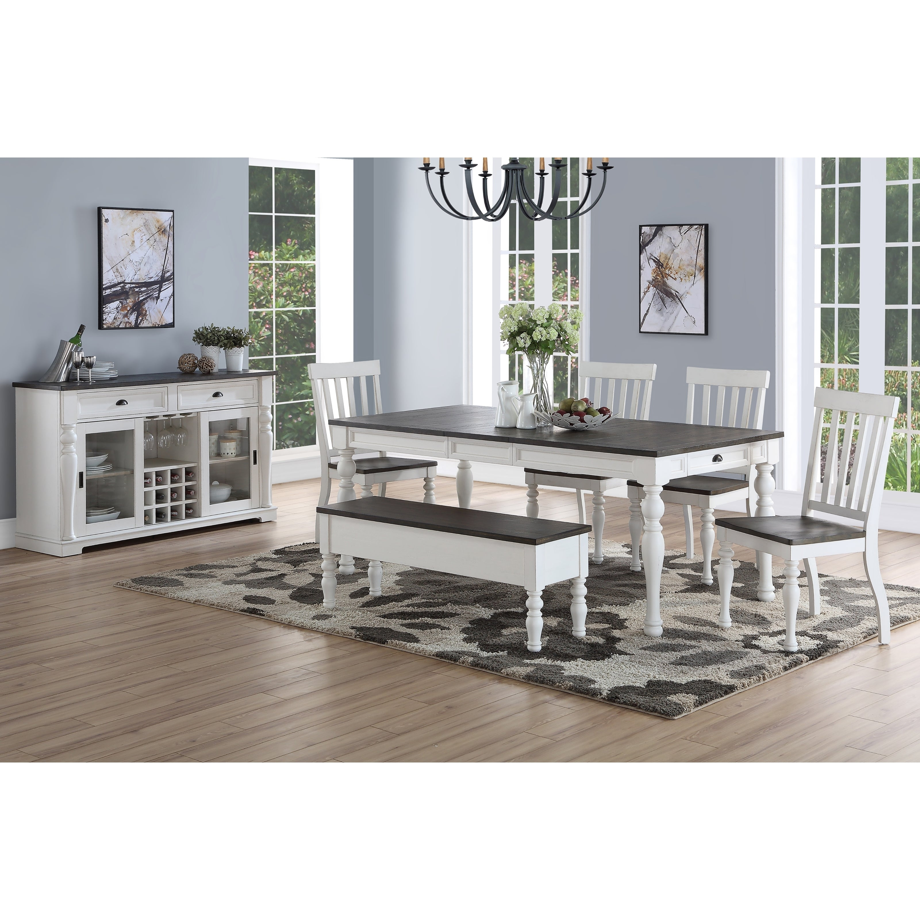 Buy 6 Piece Sets Kitchen & Dining Room Sets Online At Overstock Pertaining To 2018 Osterman 6 Piece Extendable Dining Sets (Set Of 6) (Image 4 of 20)