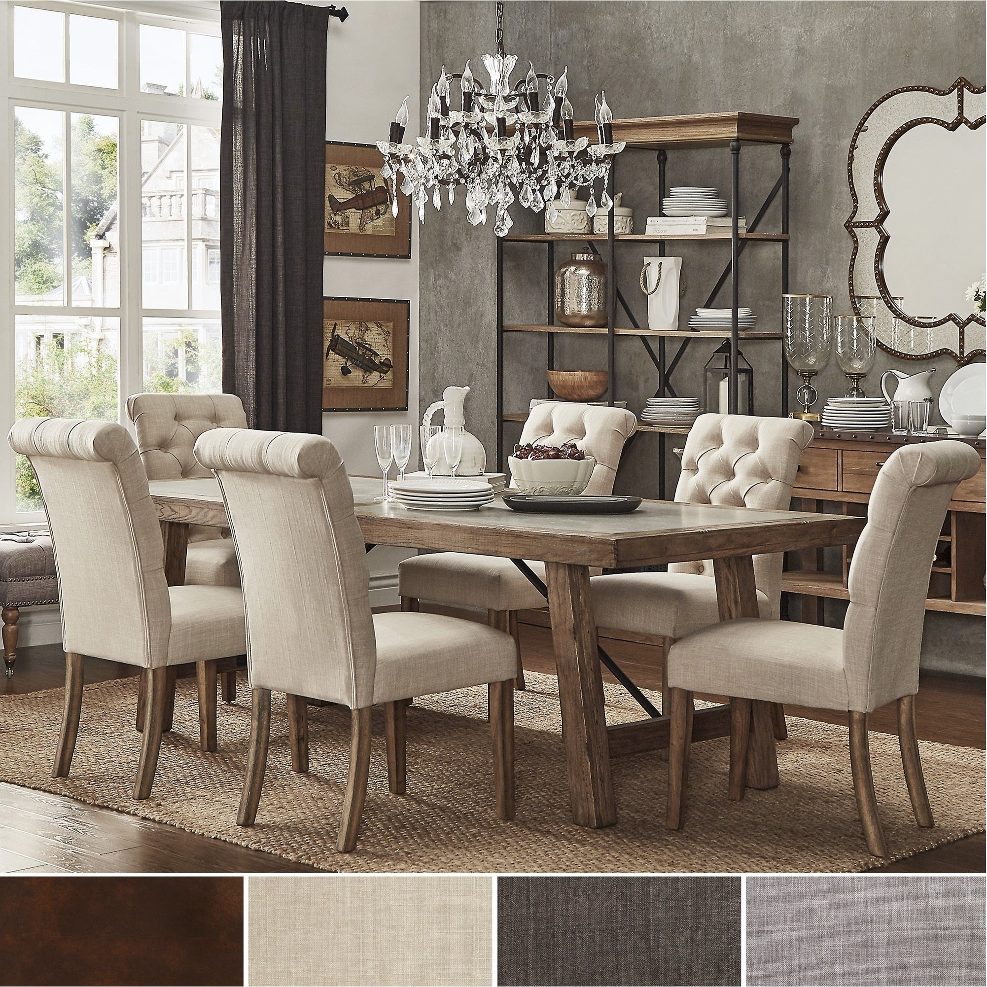 Buy 6 Piece Sets Kitchen & Dining Room Sets Online At Overstock With Regard To Recent Osterman 6 Piece Extendable Dining Sets (Set Of 6) (View 6 of 20)