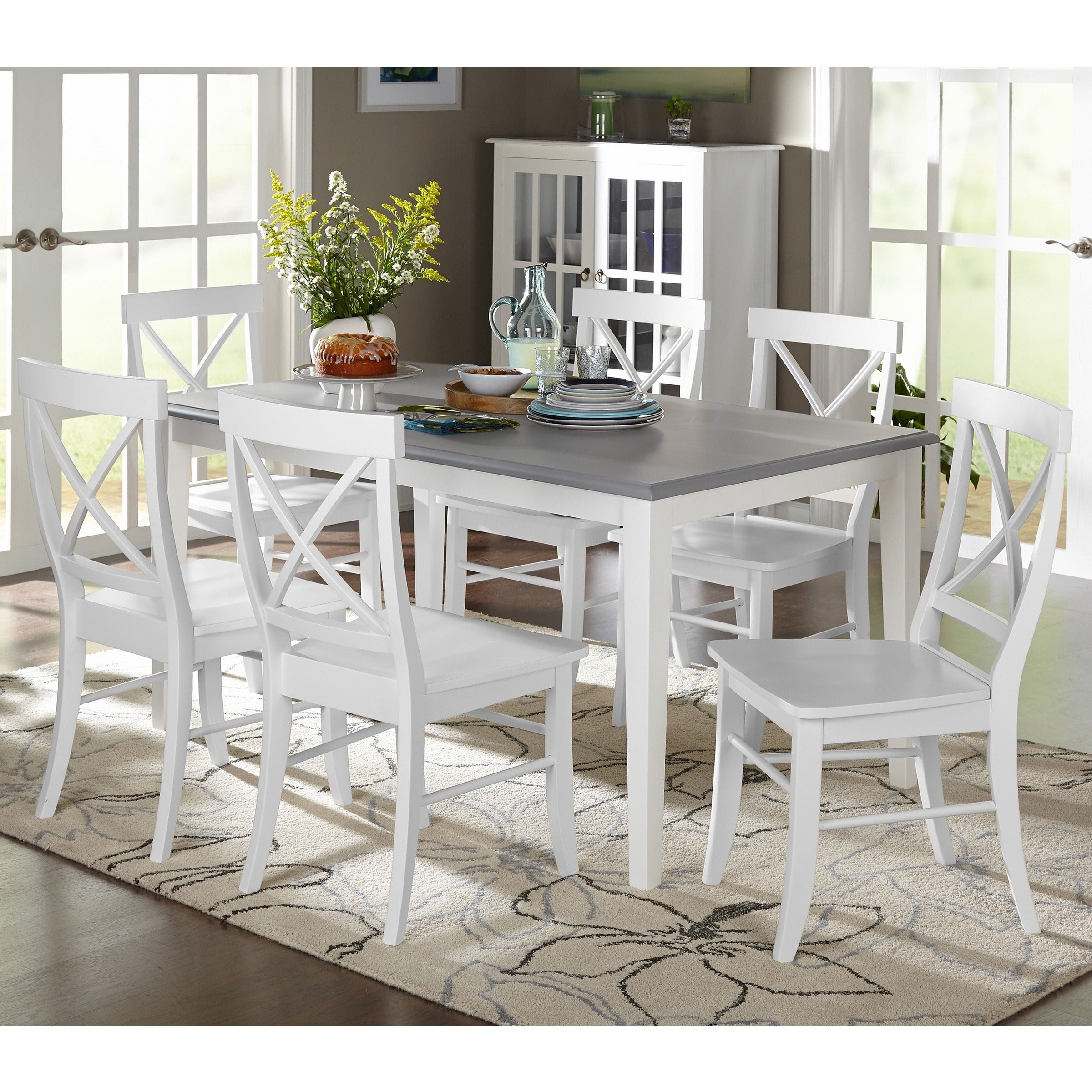 Buy 7 Piece Sets Kitchen & Dining Room Sets Online At Overstock Within Current Autberry 5 Piece Dining Sets (Image 7 of 20)