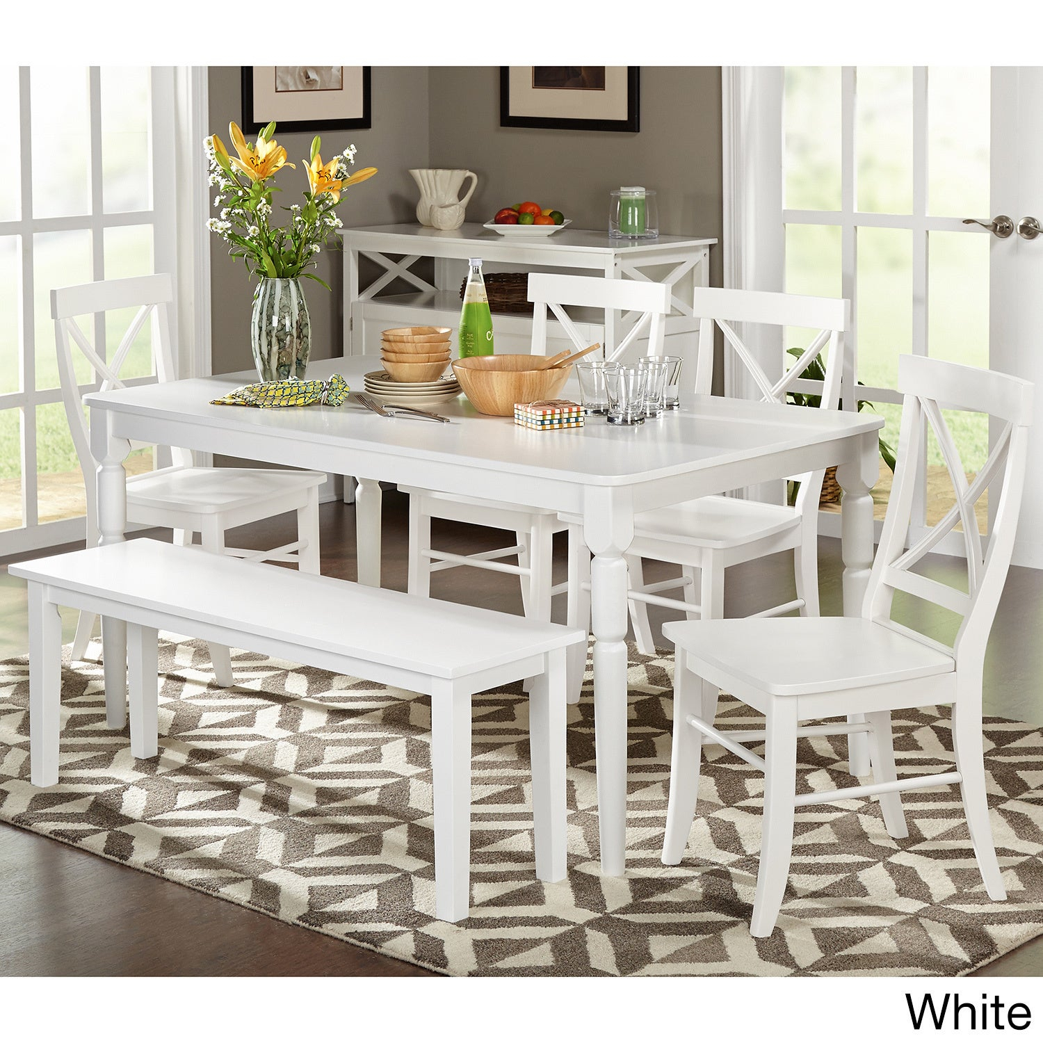 Buy Farmhouse Kitchen & Dining Room Sets Online At Overstock | Our In Best And Newest Falmer 3 Piece Solid Wood Dining Sets (Image 3 of 20)