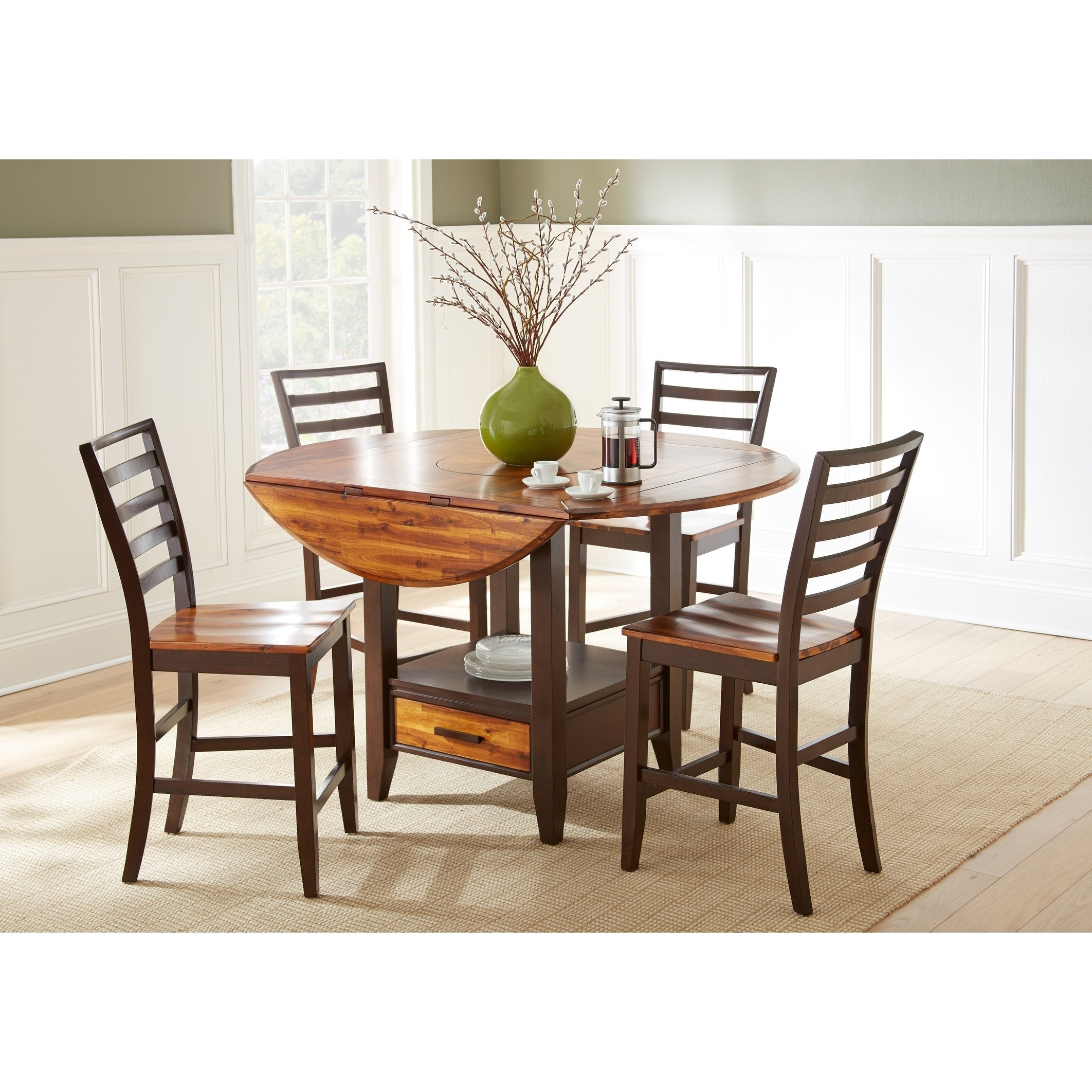 Buy Farmhouse Kitchen & Dining Room Sets Online At Overstock | Our Regarding Current Falmer 3 Piece Solid Wood Dining Sets (Image 4 of 20)