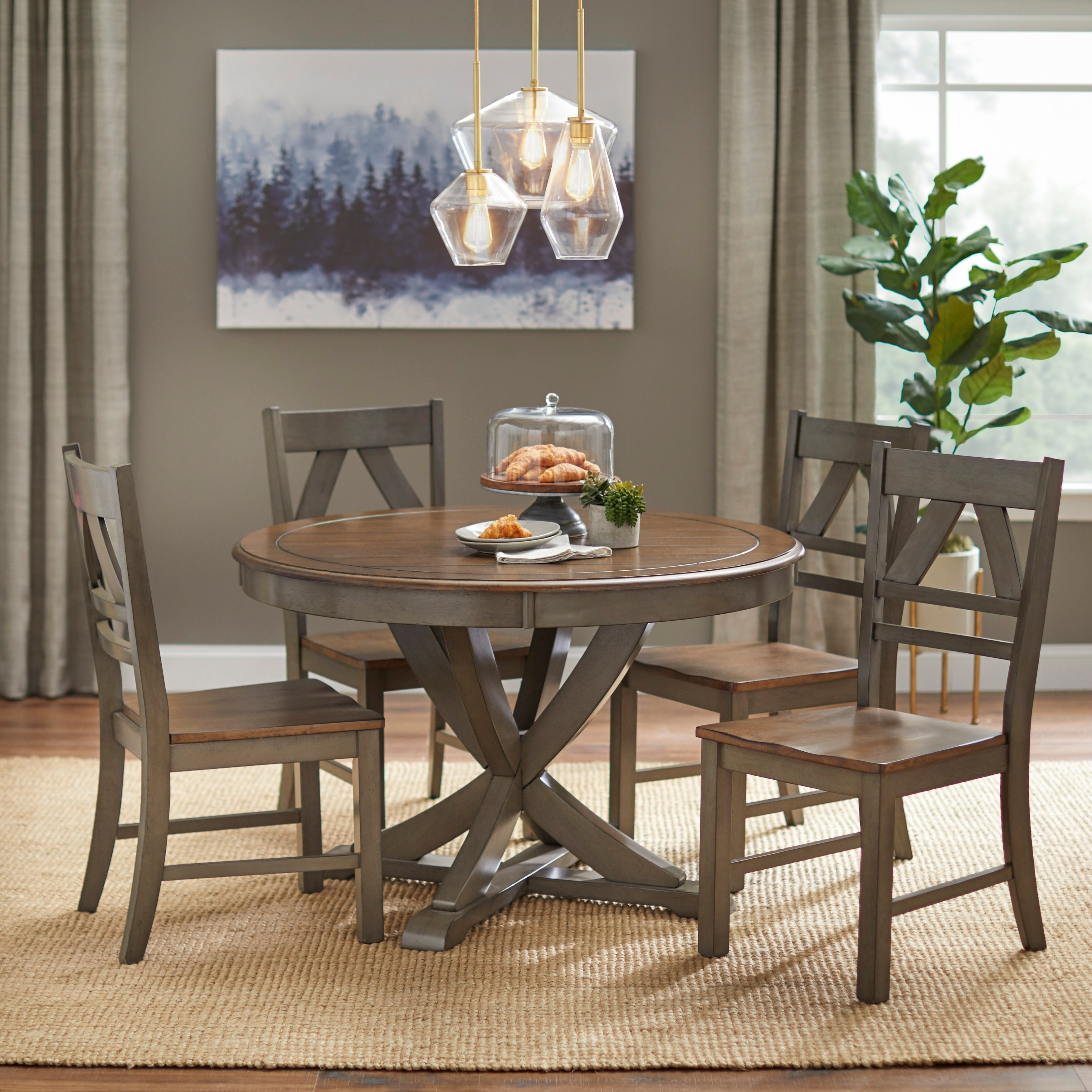 Buy Farmhouse Kitchen & Dining Room Sets Online At Overstock | Our With Current Falmer 3 Piece Solid Wood Dining Sets (View 5 of 20)
