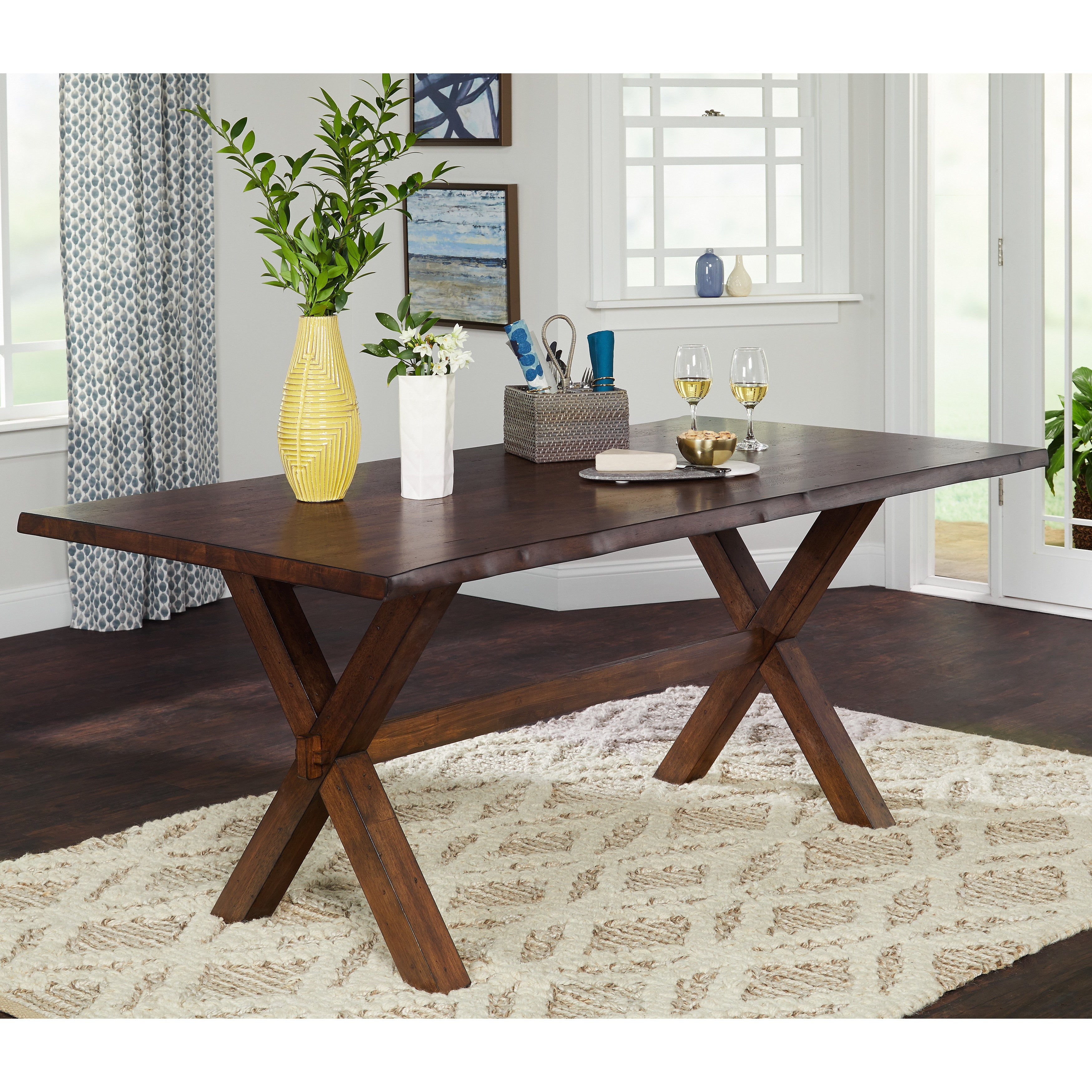 Buy Farmhouse Kitchen & Dining Room Tables Online At Overstock | Our In Most Popular Falmer 3 Piece Solid Wood Dining Sets (View 15 of 20)