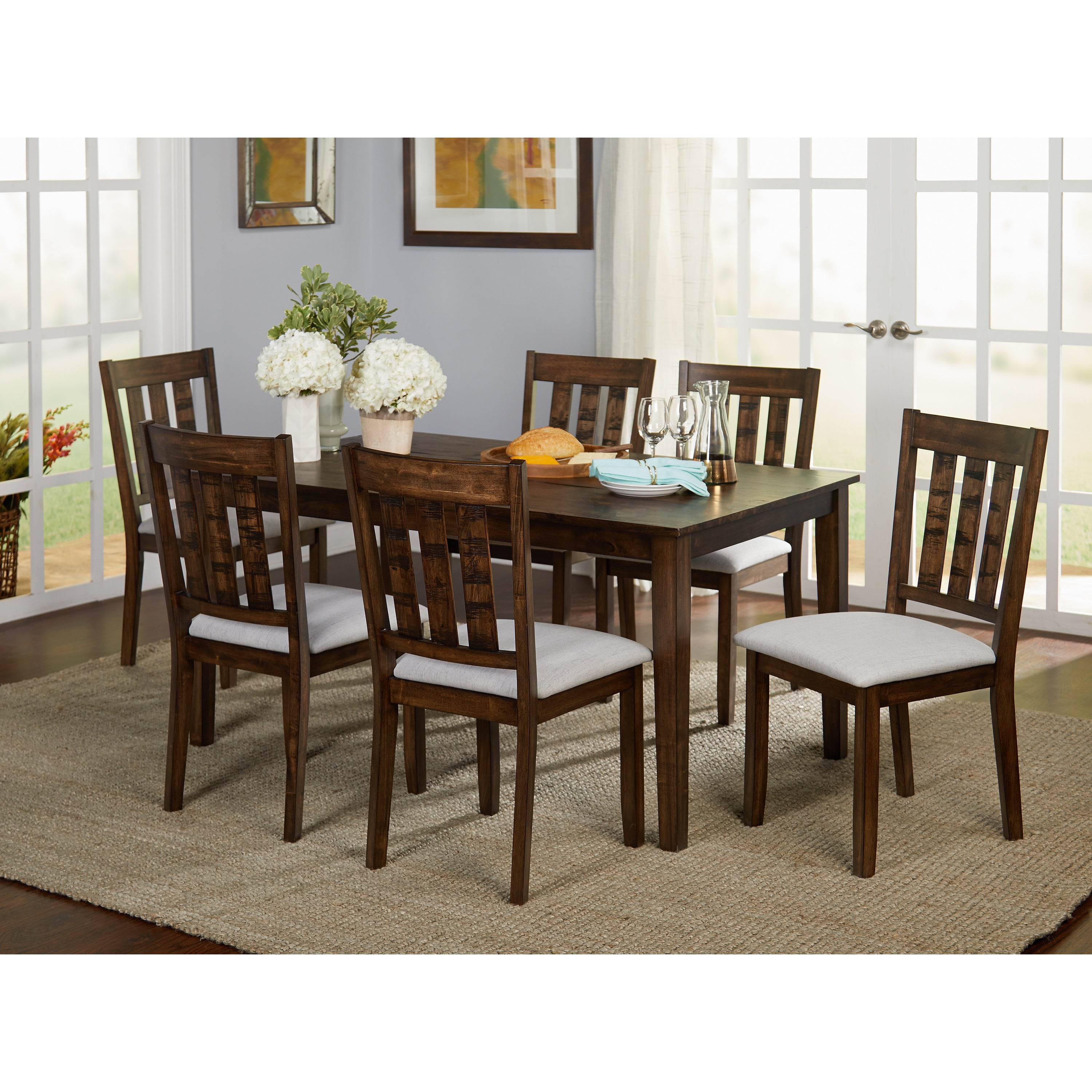 Buy Farmhouse Kitchen & Dining Room Tables Online At Overstock | Our With Newest Falmer 3 Piece Solid Wood Dining Sets (View 11 of 20)
