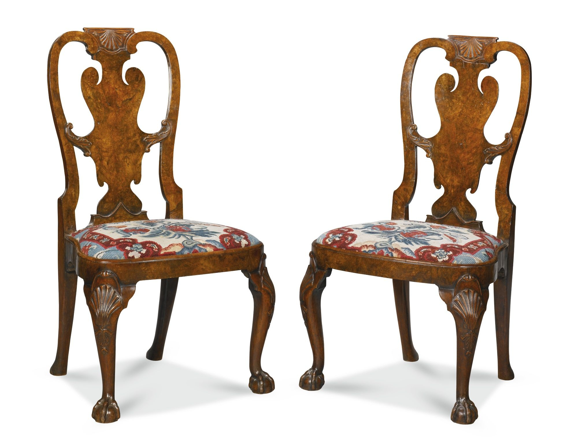 C1735 A Pair Of George Ii Walnut Side Chairs Circa 1735, Attributed Intended For Most Recently Released Giles 3 Piece Dining Sets (Photo 18 of 20)