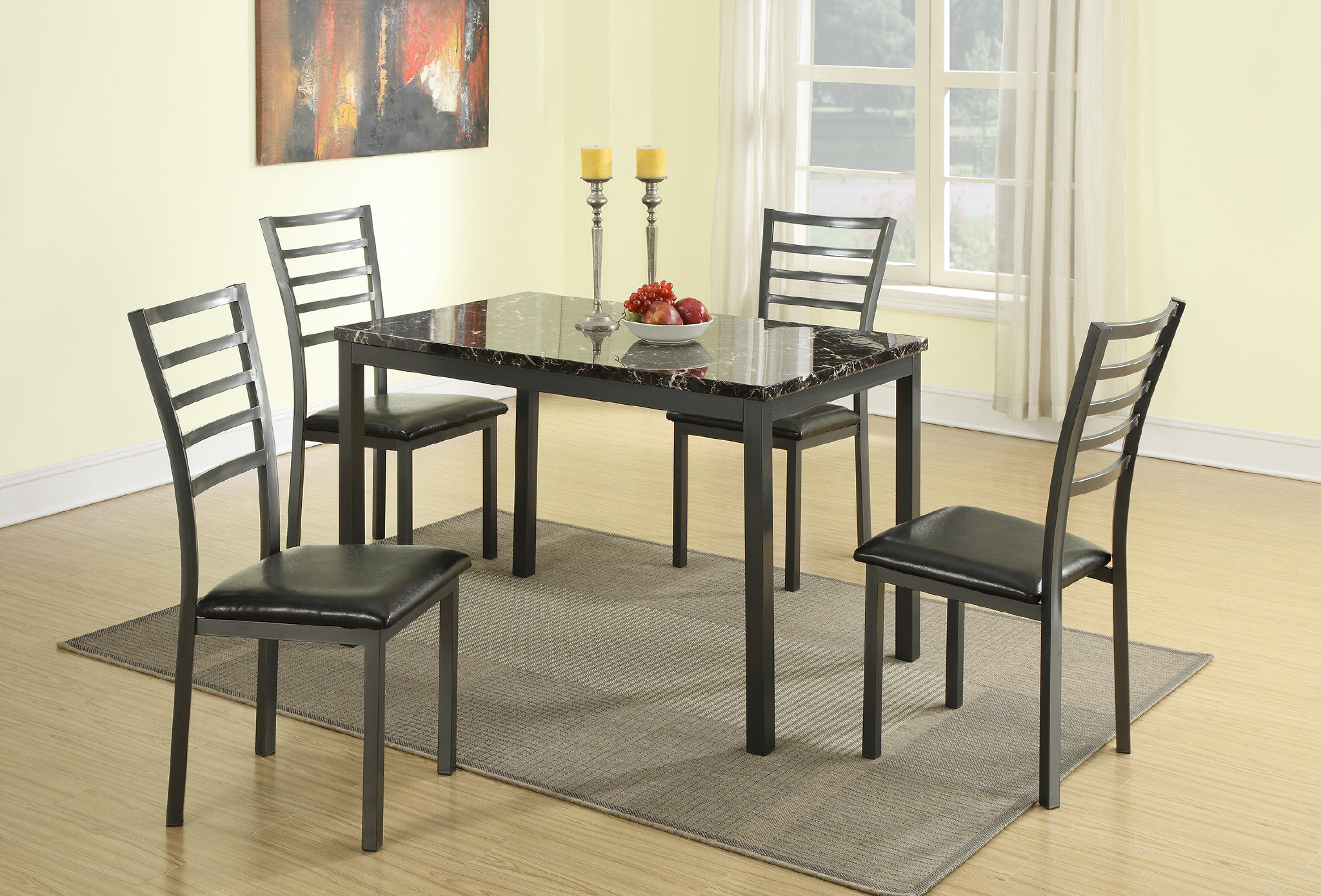 Caenas 5 Piece Dining Set For Most Up To Date Taulbee 5 Piece Dining Sets (View 11 of 20)