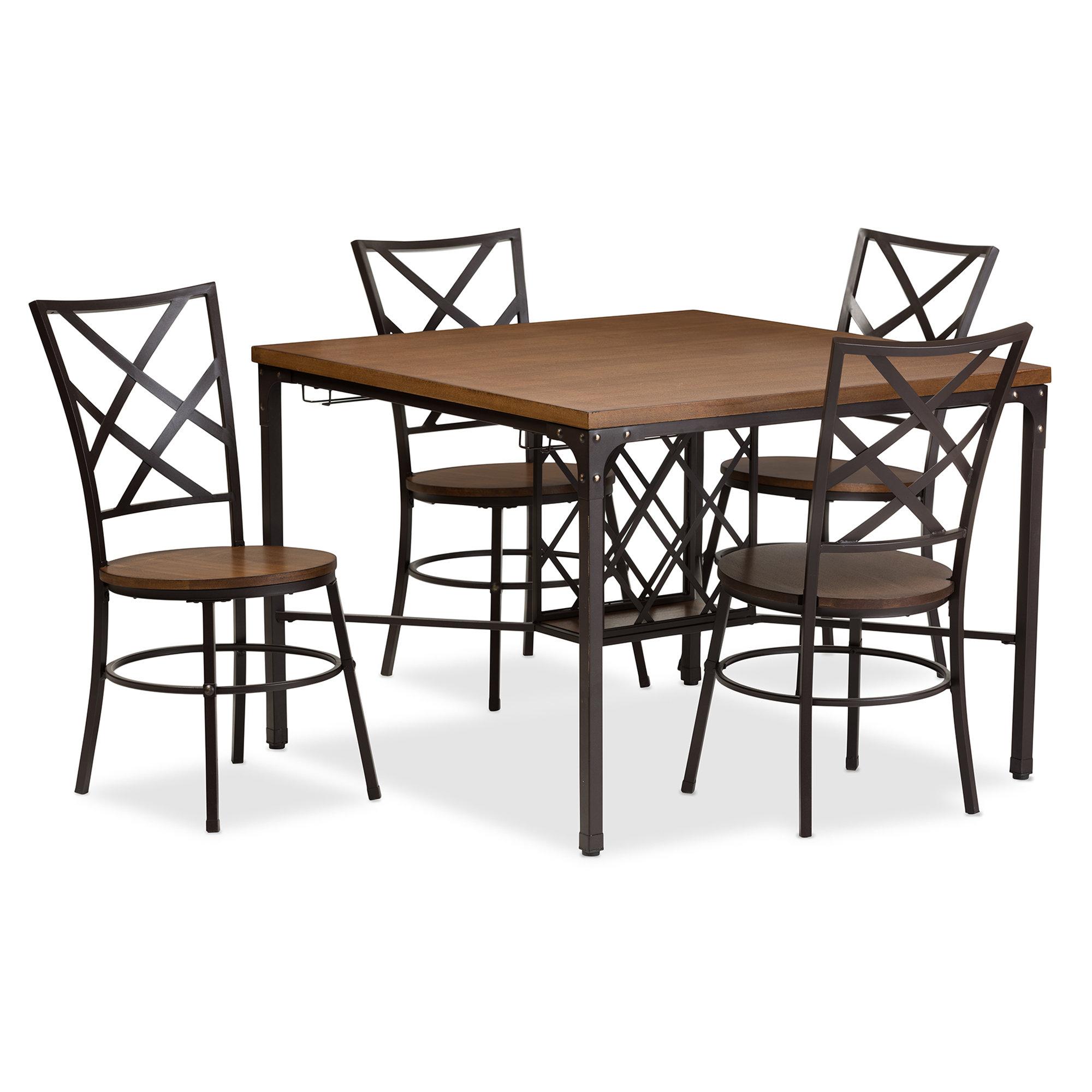 Calla 5 Piece Dining Set Regarding 2017 Ephraim 5 Piece Dining Sets (Image 5 of 20)