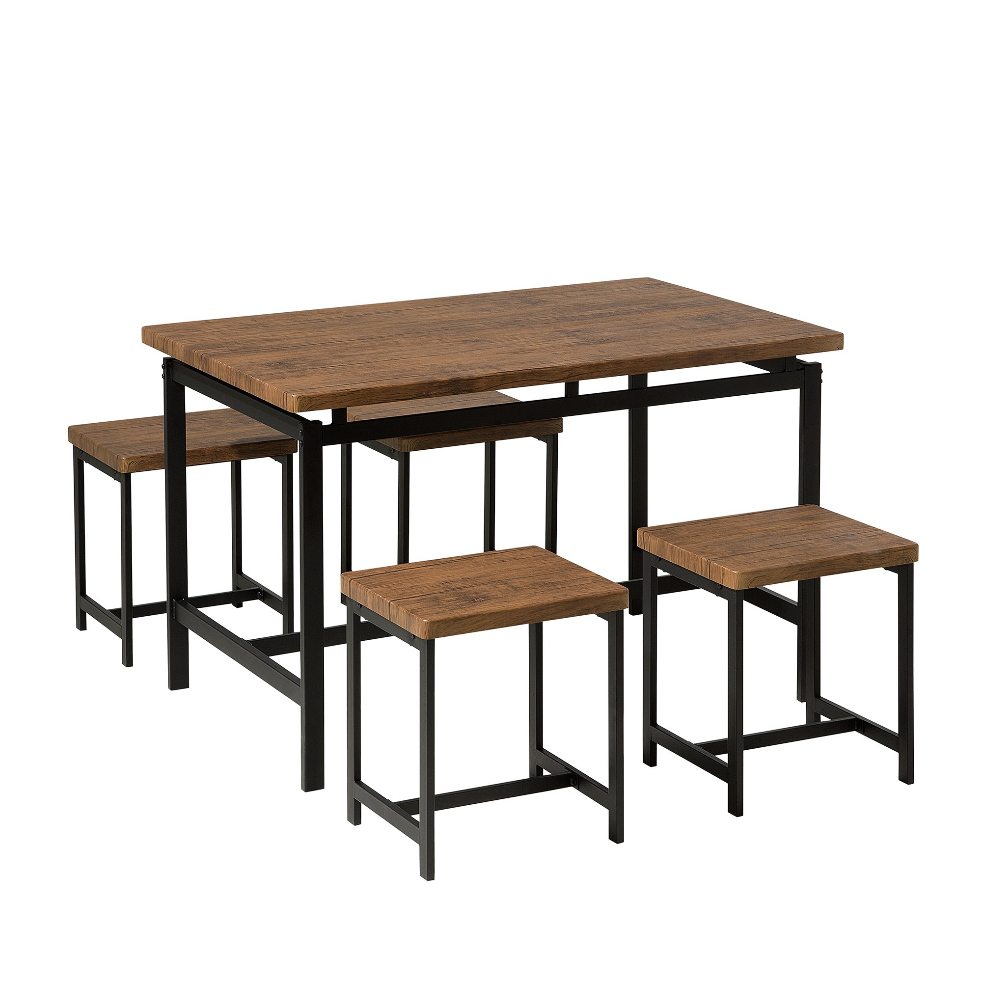 Cargo 5 Piece Dining Set In Current Weatherholt Dining Tables (Photo 16 of 20)