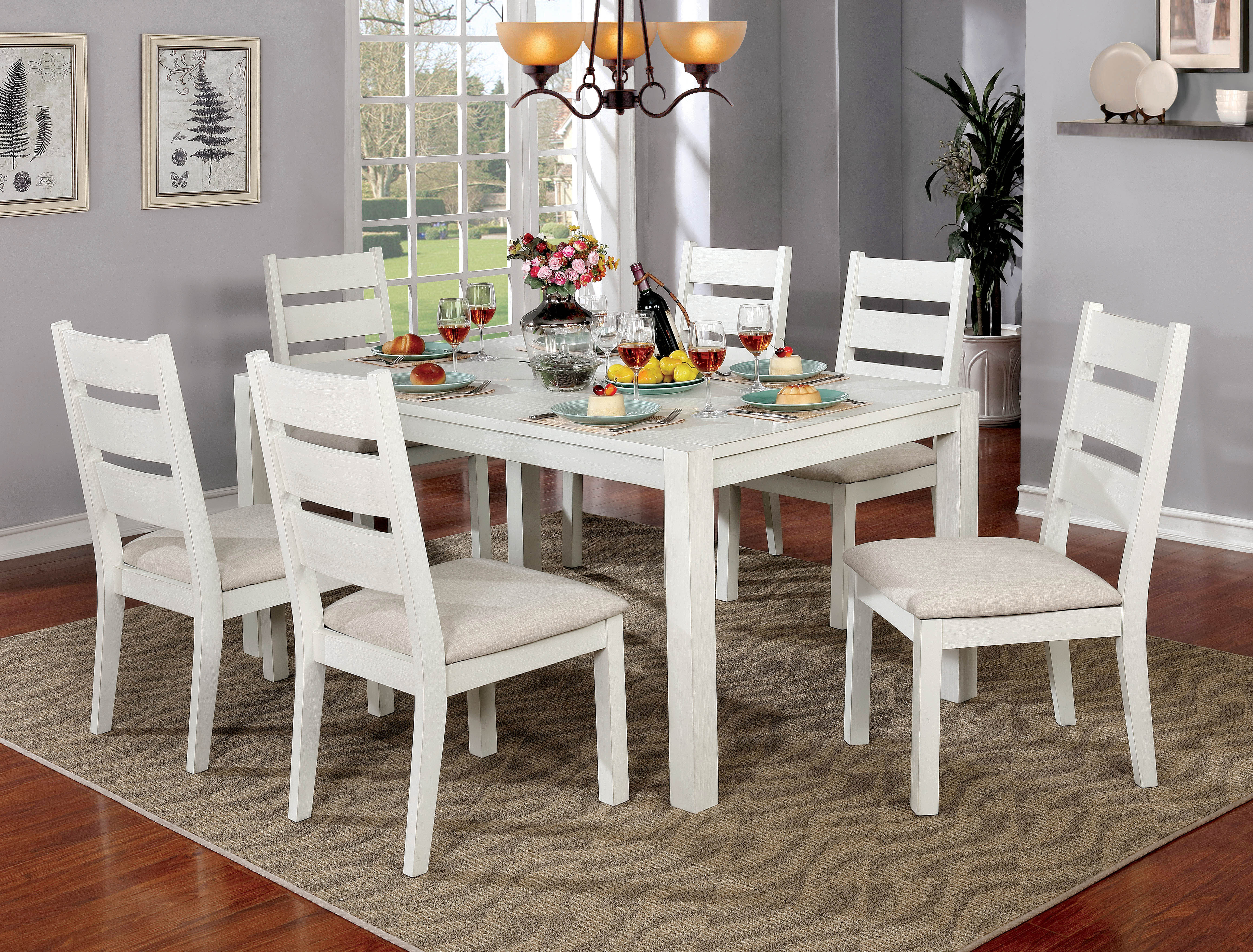 Carrera 7 Piece Dining Set Intended For 2018 Valladares 3 Piece Pub Table Sets (View 9 of 20)