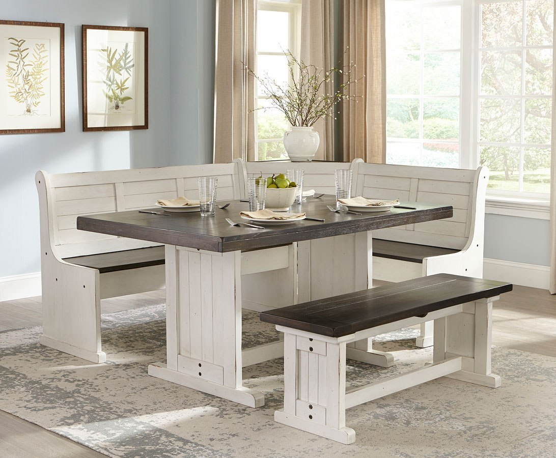 Carriage House Breakfast Nook Set Inside 2018 Liles 5 Piece Breakfast Nook Dining Sets (Image 5 of 20)