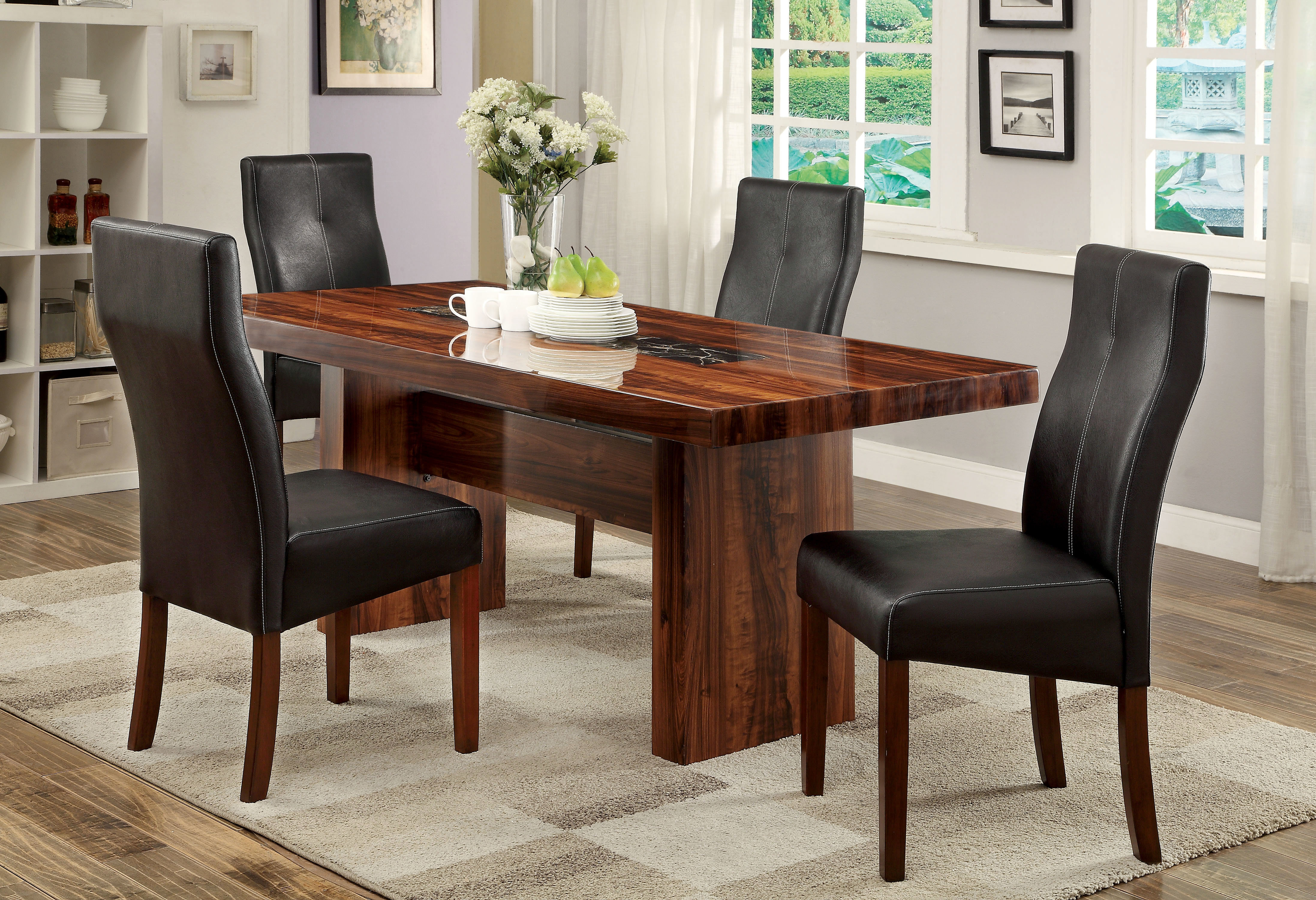 Carroll 5 Piece Dining Set For Most Current Tavarez 5 Piece Dining Sets (Image 3 of 20)