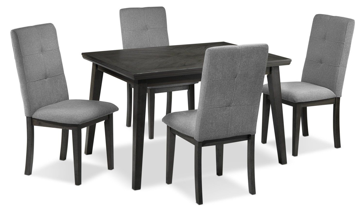 Carson 5 Piece Dinette Set – Grey | Room Decor | Dinette Sets With Regard To Most Current Stouferberg 5 Piece Dining Sets (View 15 of 20)