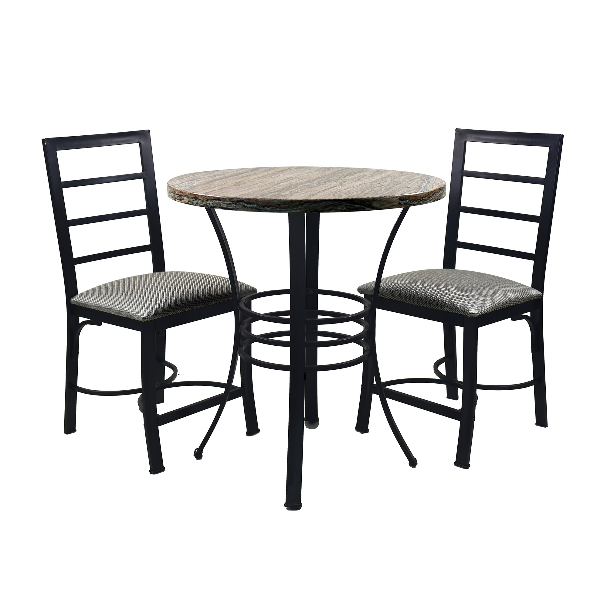 Casillas Bistro 3 Piece Dining Set In Most Recently Released Kinsler 3 Piece Bistro Sets (View 8 of 20)