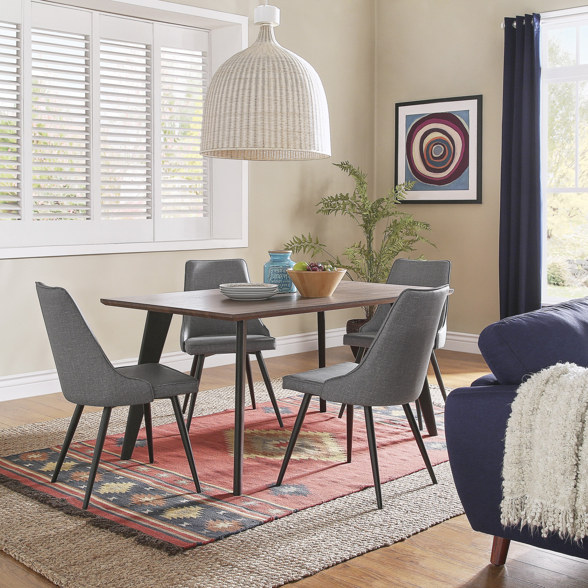 Caskey 5 Piece Dining Set Inside 2018 Turnalar 5 Piece Dining Sets (View 4 of 20)